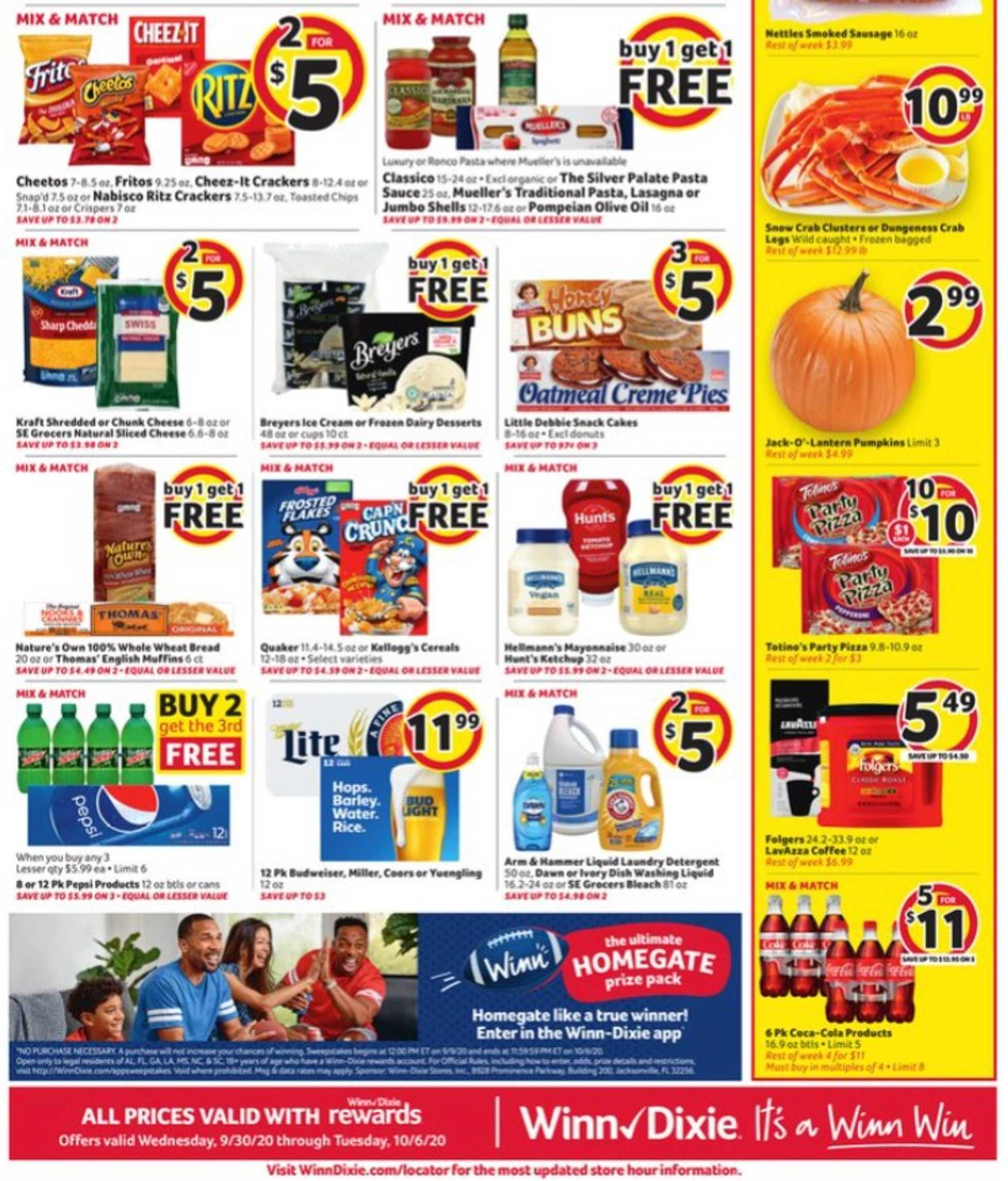 Winn Dixie - deals are valid from 09/30/20 to 10/07/20 - page 2.