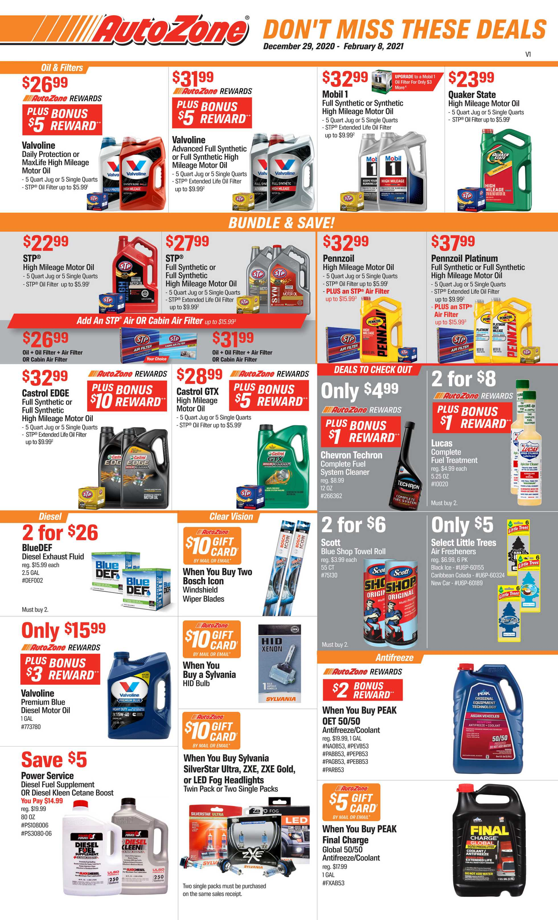 AutoZone - deals are valid from 12/29/20 to 02/08/21 - page 1.