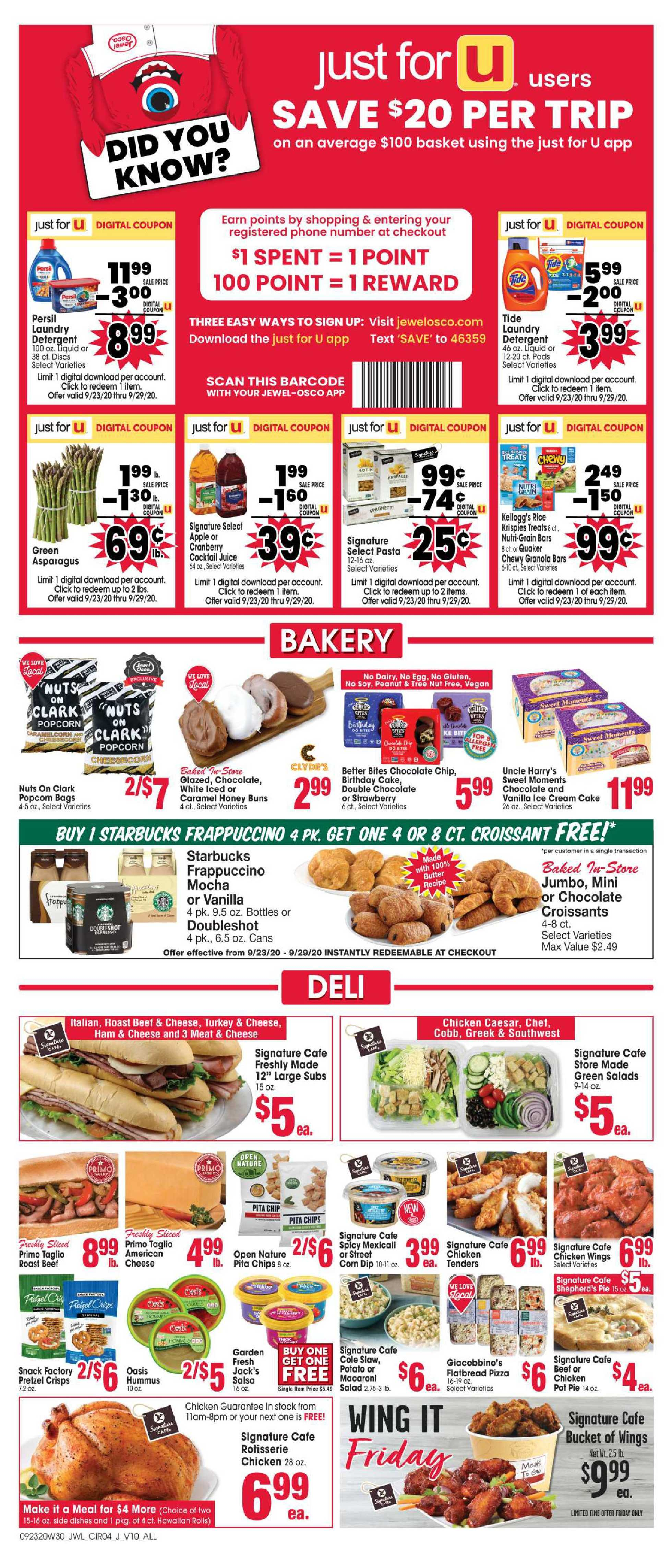 Jewel Osco - deals are valid from 09/23/20 to 09/29/20 - page 4.