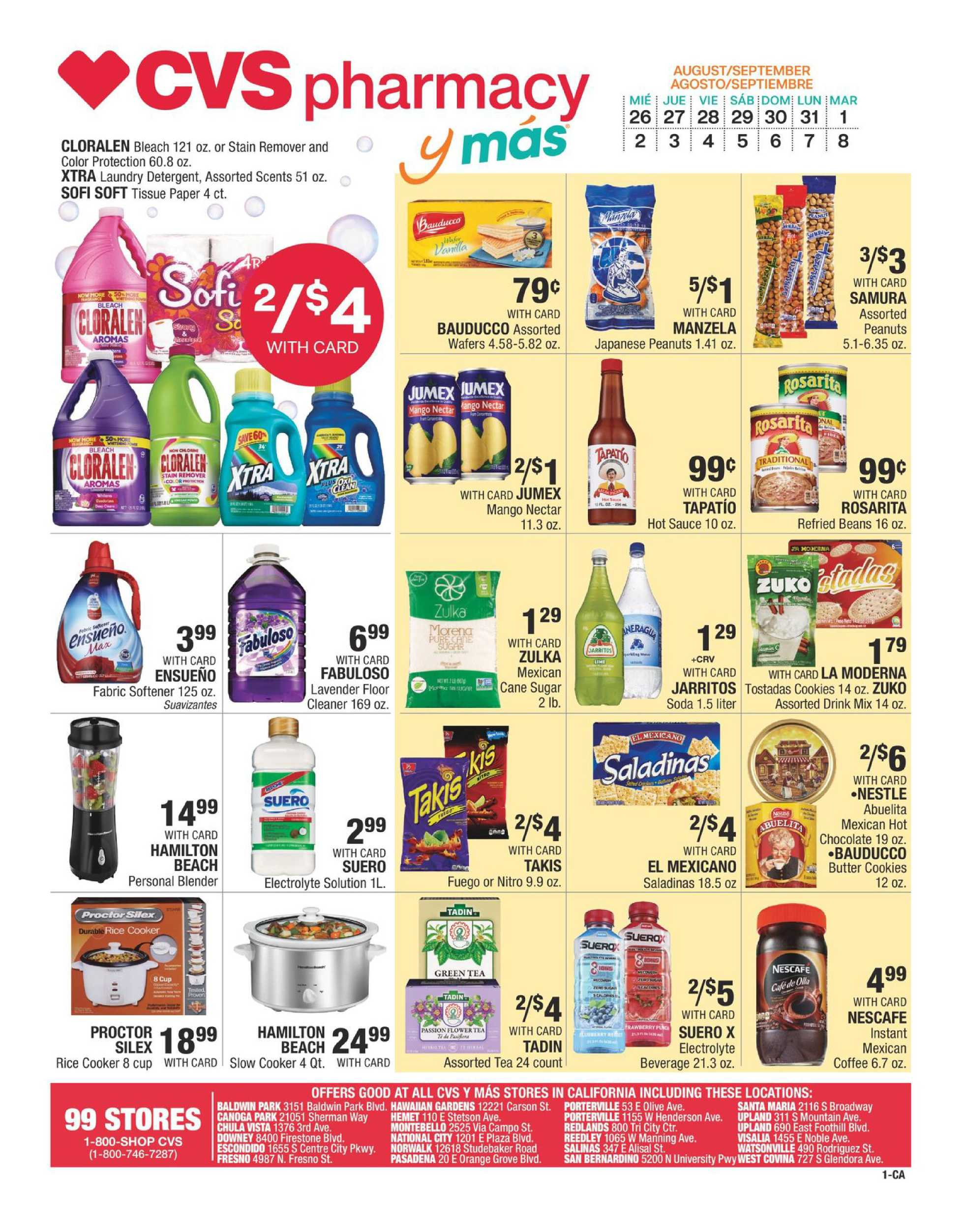 CVS - deals are valid from 08/26/20 to 09/08/20 - page 1.