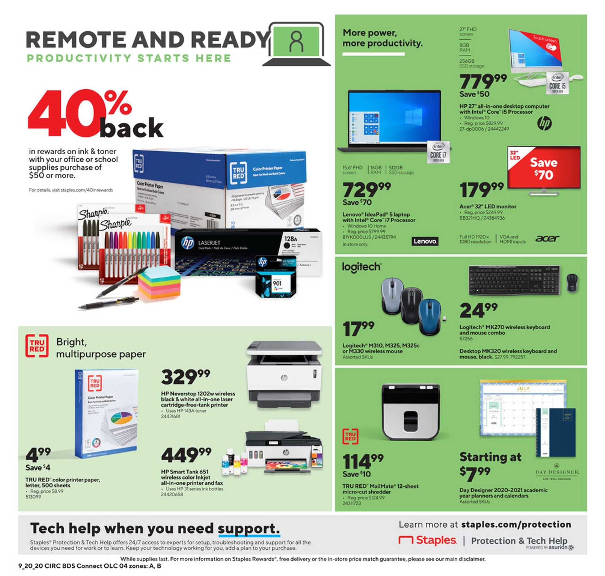 Staples - deals are valid from 09/20/20 to 09/26/20 - page 4.