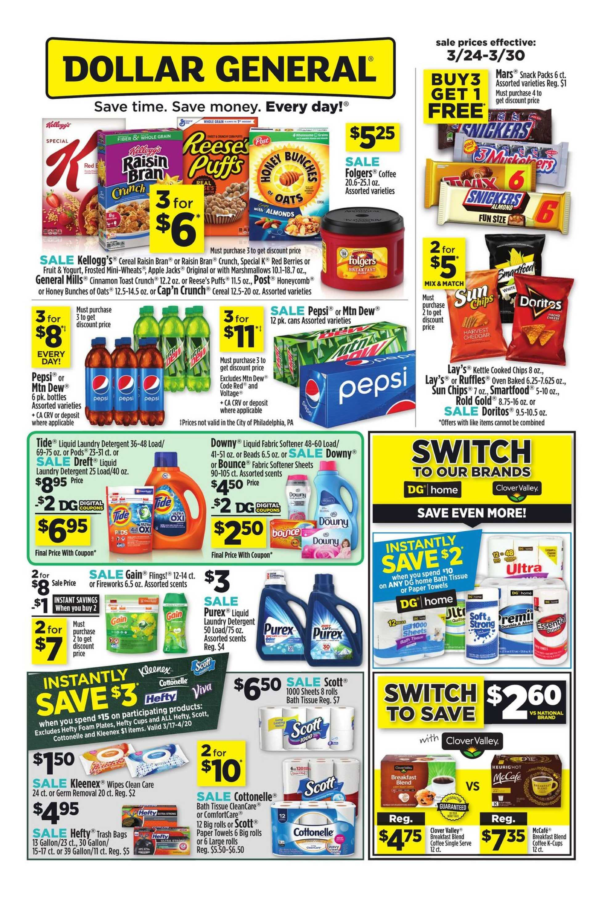 Dollar General - deals are valid from 03/24/19 to 03/30/19 - page 1.
