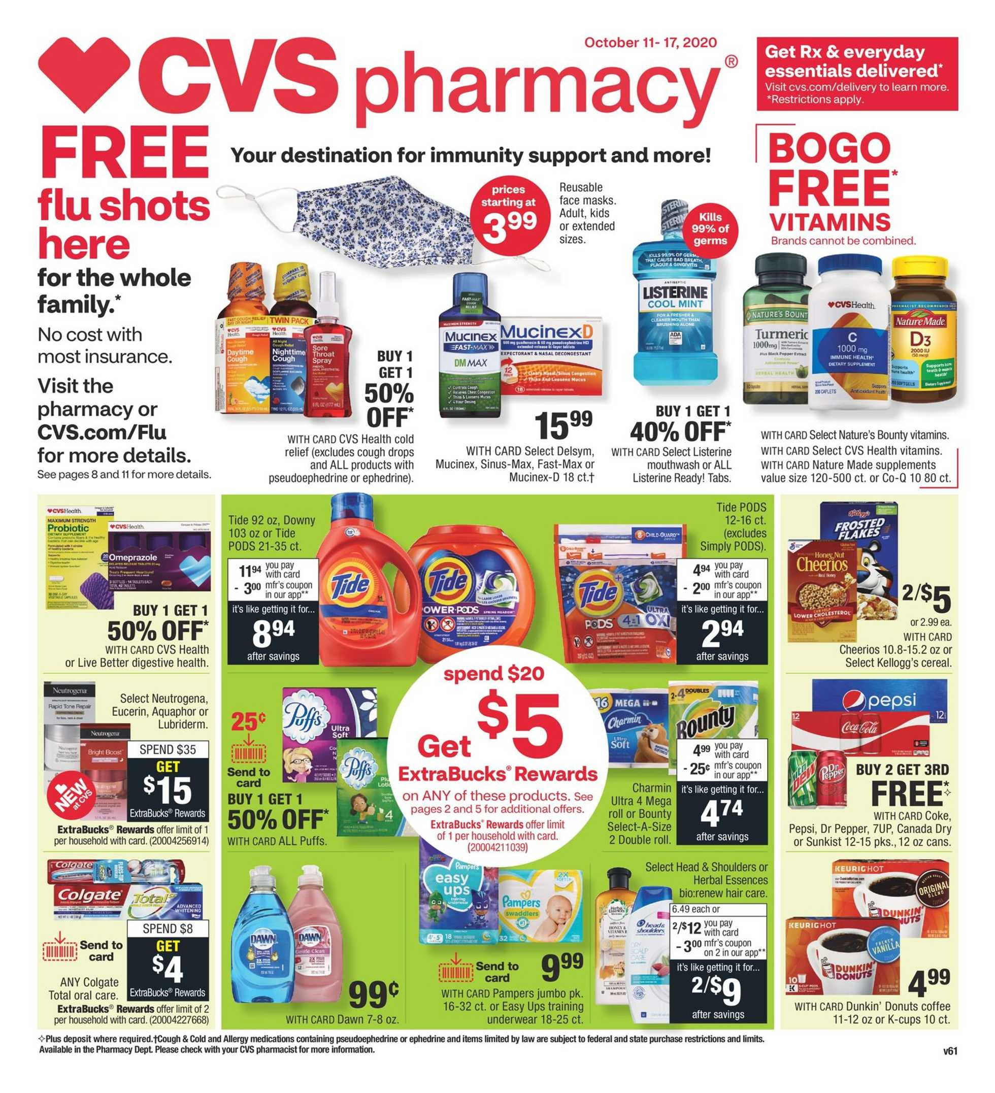 CVS - deals are valid from 10/11/20 to 10/17/20 - page 1.