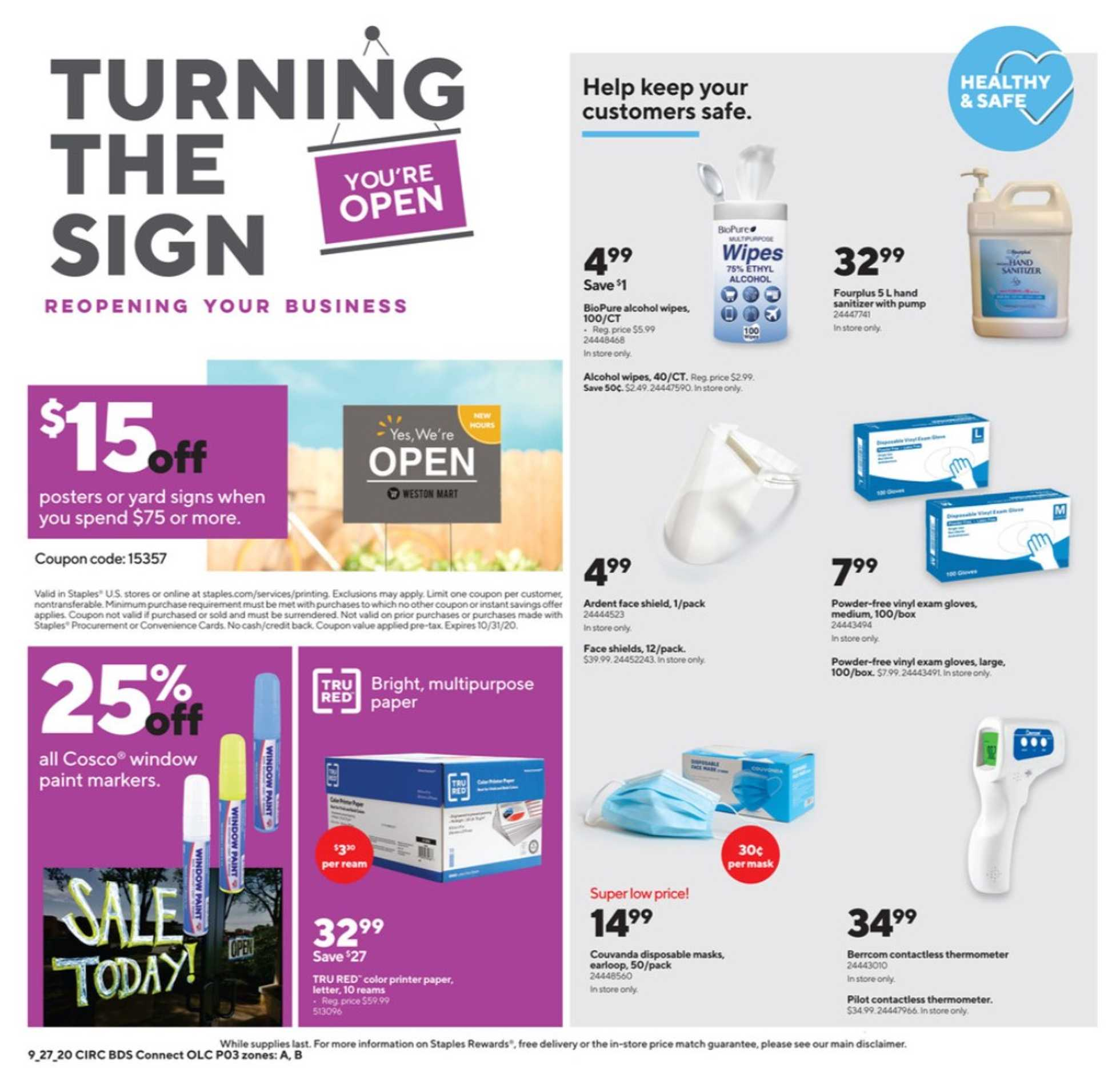 Staples - deals are valid from 09/27/20 to 10/03/20 - page 3.