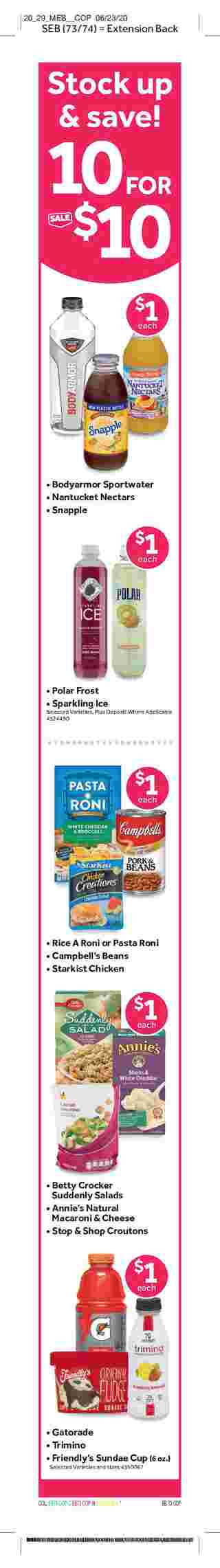 Stop & Shop - deals are valid from 07/10/20 to 07/16/20 - page 10.