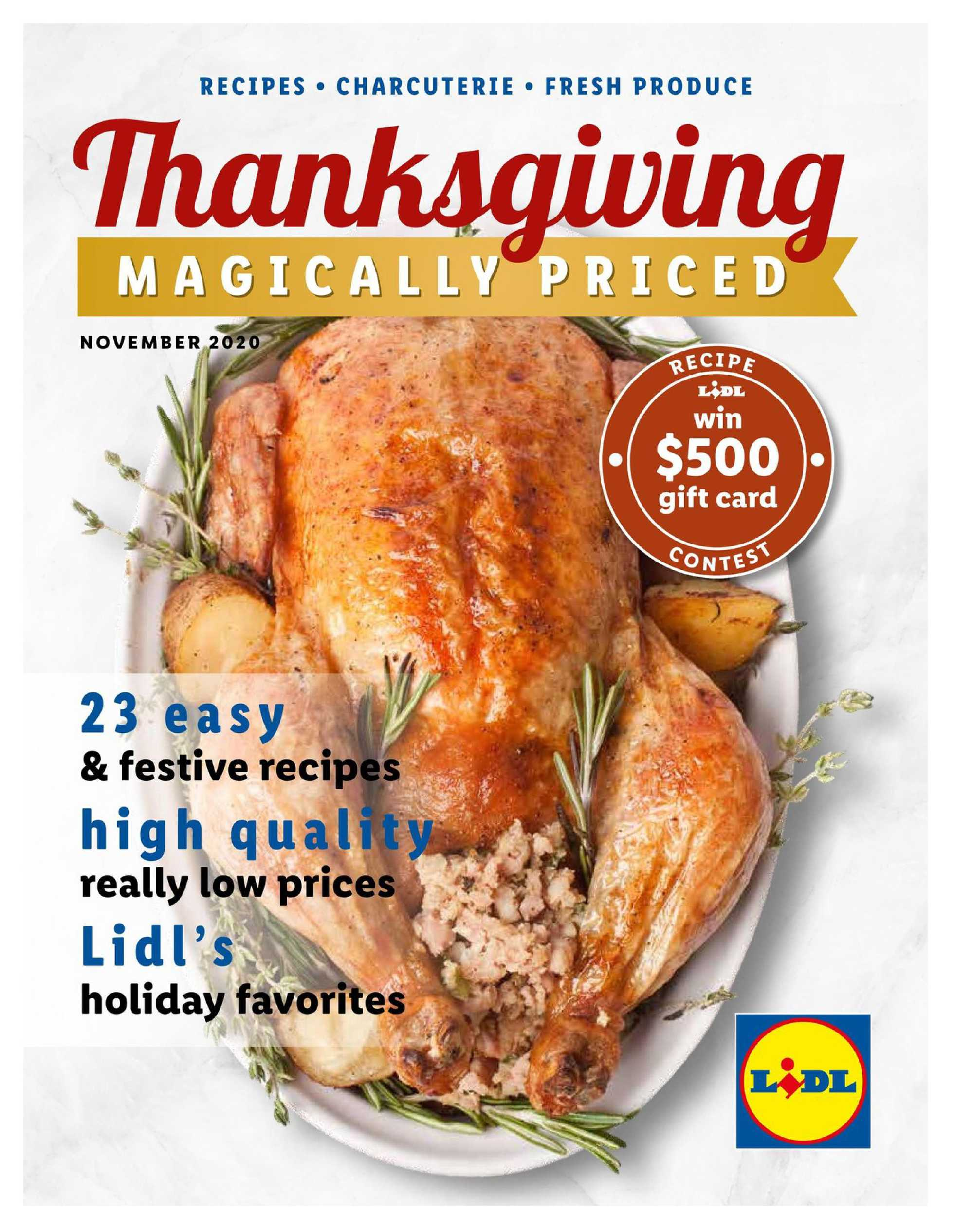 Lidl - deals are valid from 10/28/20 to 11/27/20 - page 1.