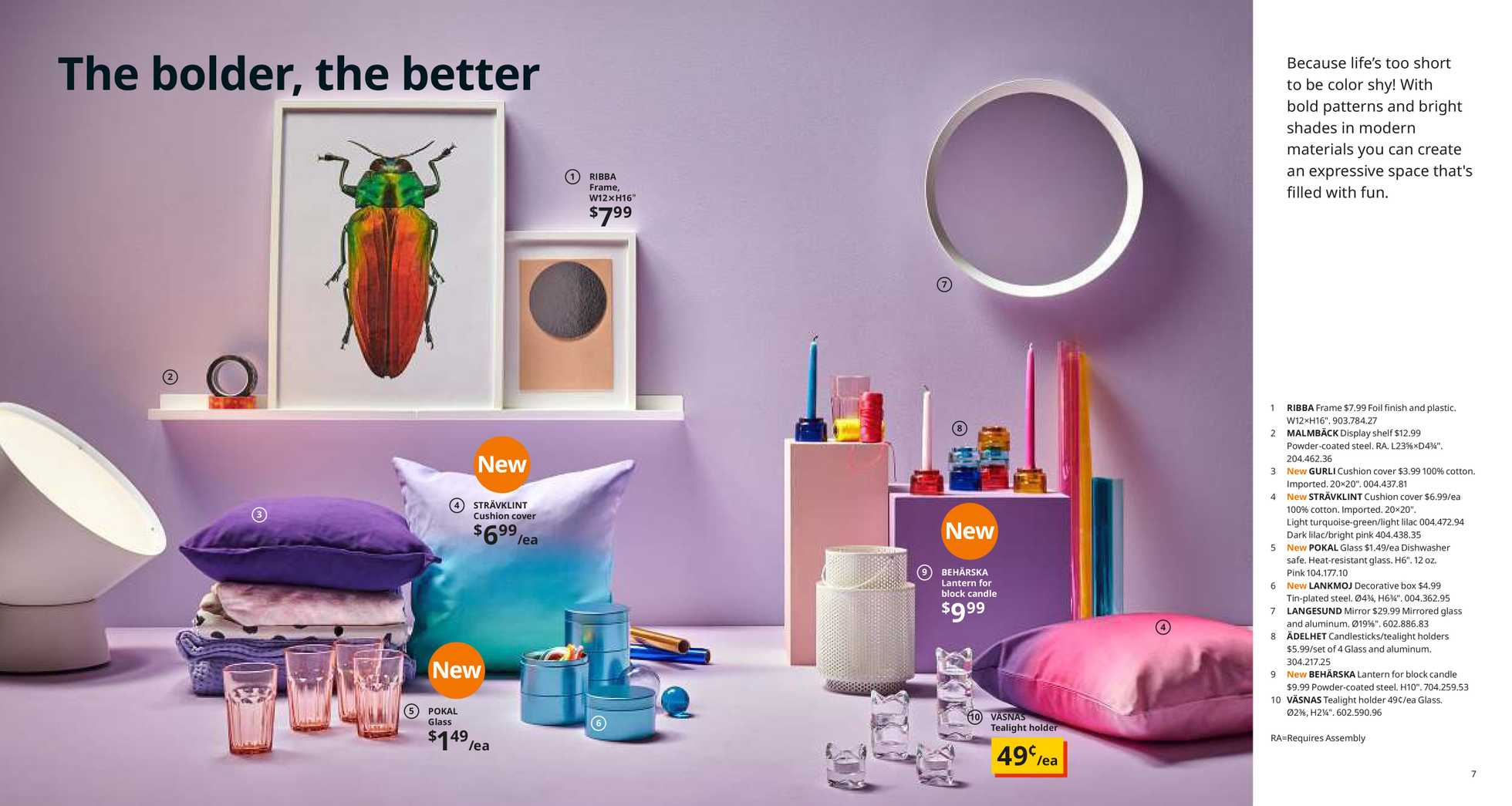 Ikea - deals are valid from 12/01/19 to 12/01/20 - page 4. The promotion includes mirror, pink, dishwasher