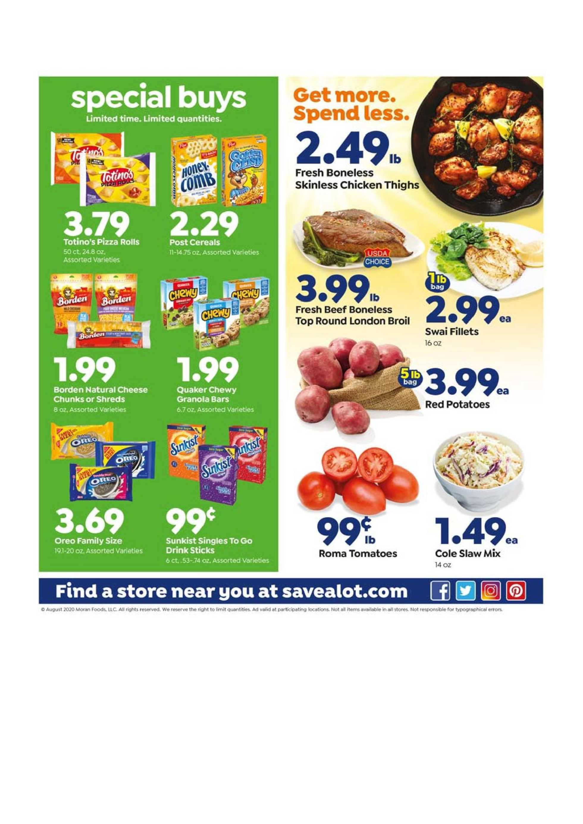 Save-A-Lot - deals are valid from 08/26/20 to 09/01/20 - page 3.