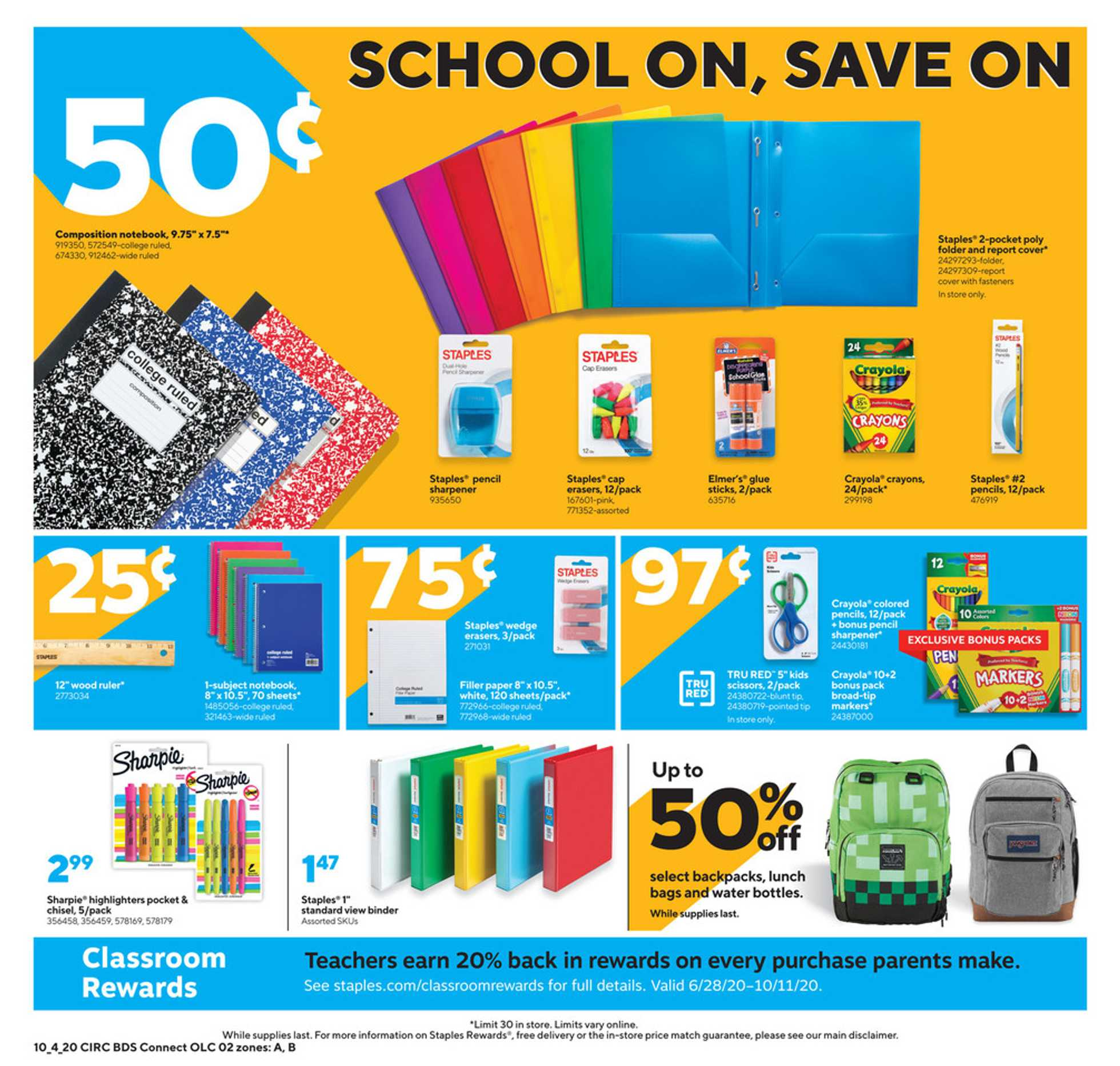 Staples - deals are valid from 10/04/20 to 10/10/20 - page 2.