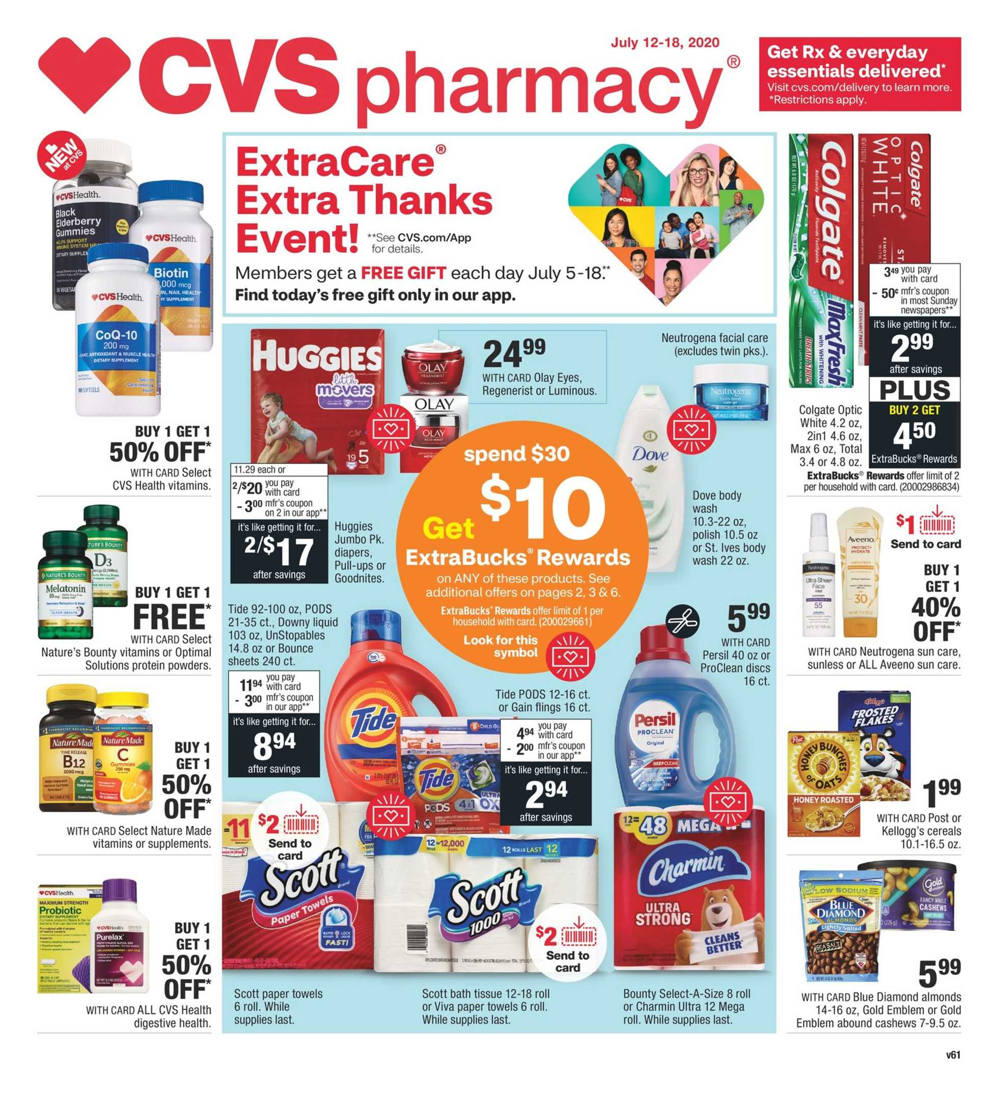 CVS - deals are valid from 07/12/20 to 07/18/20 - page 1.