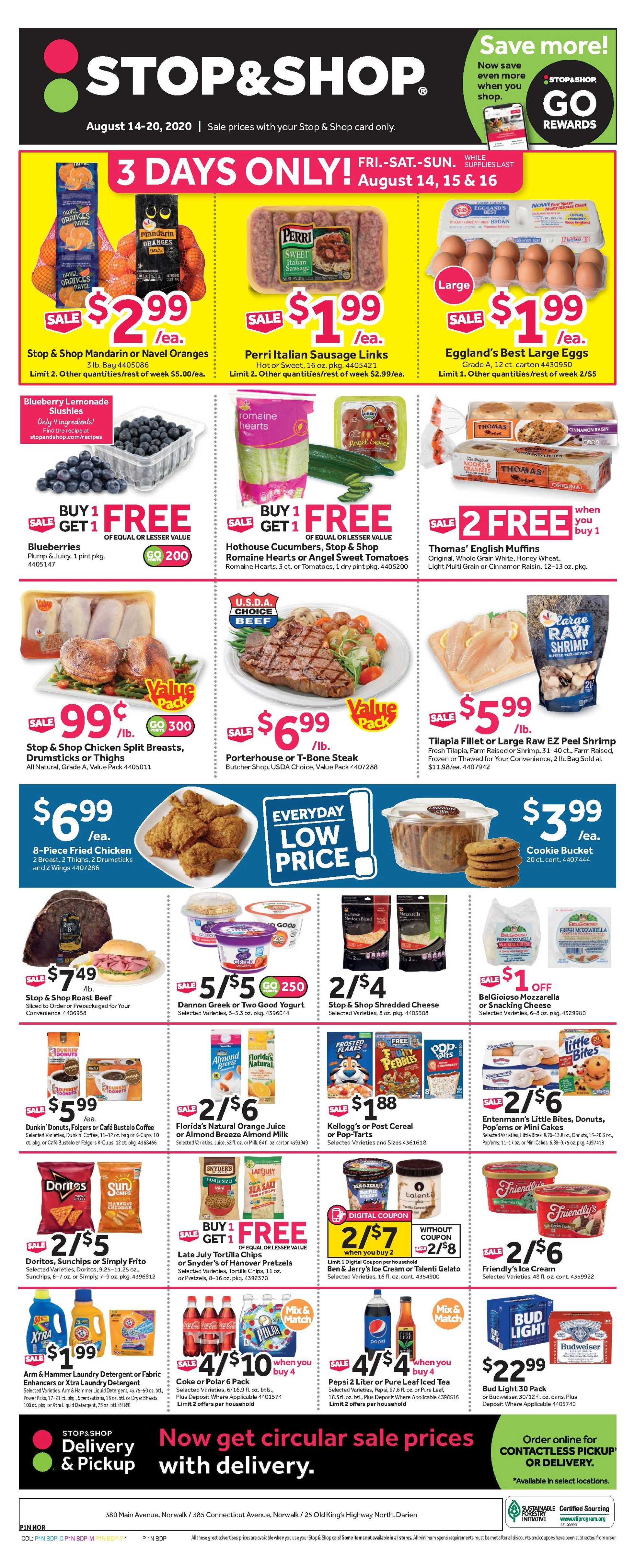 Stop & Shop - deals are valid from 08/14/20 to 08/20/20 - page 3.