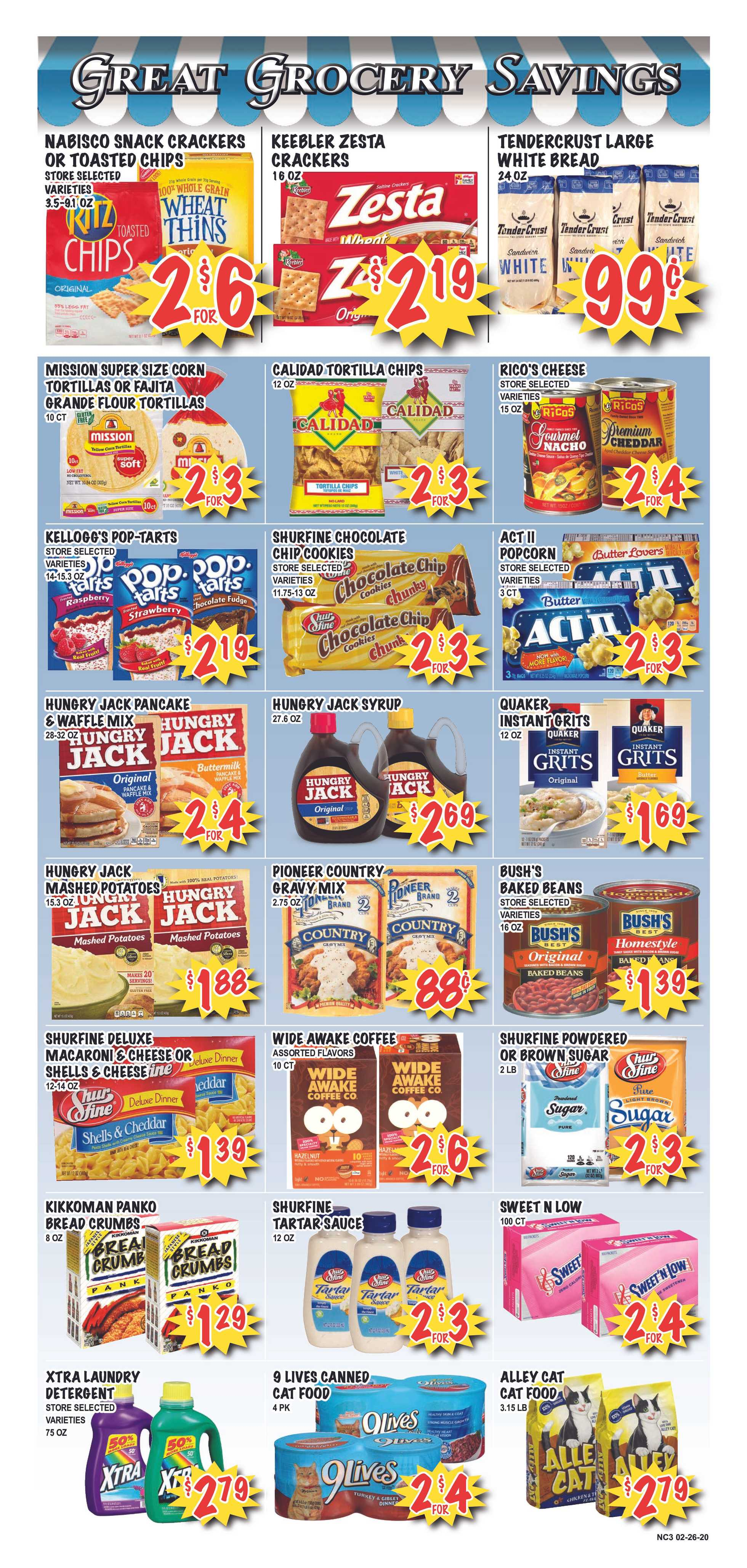 Market Place - deals are valid from 02/26/20 to 03/03/20 - page 3.