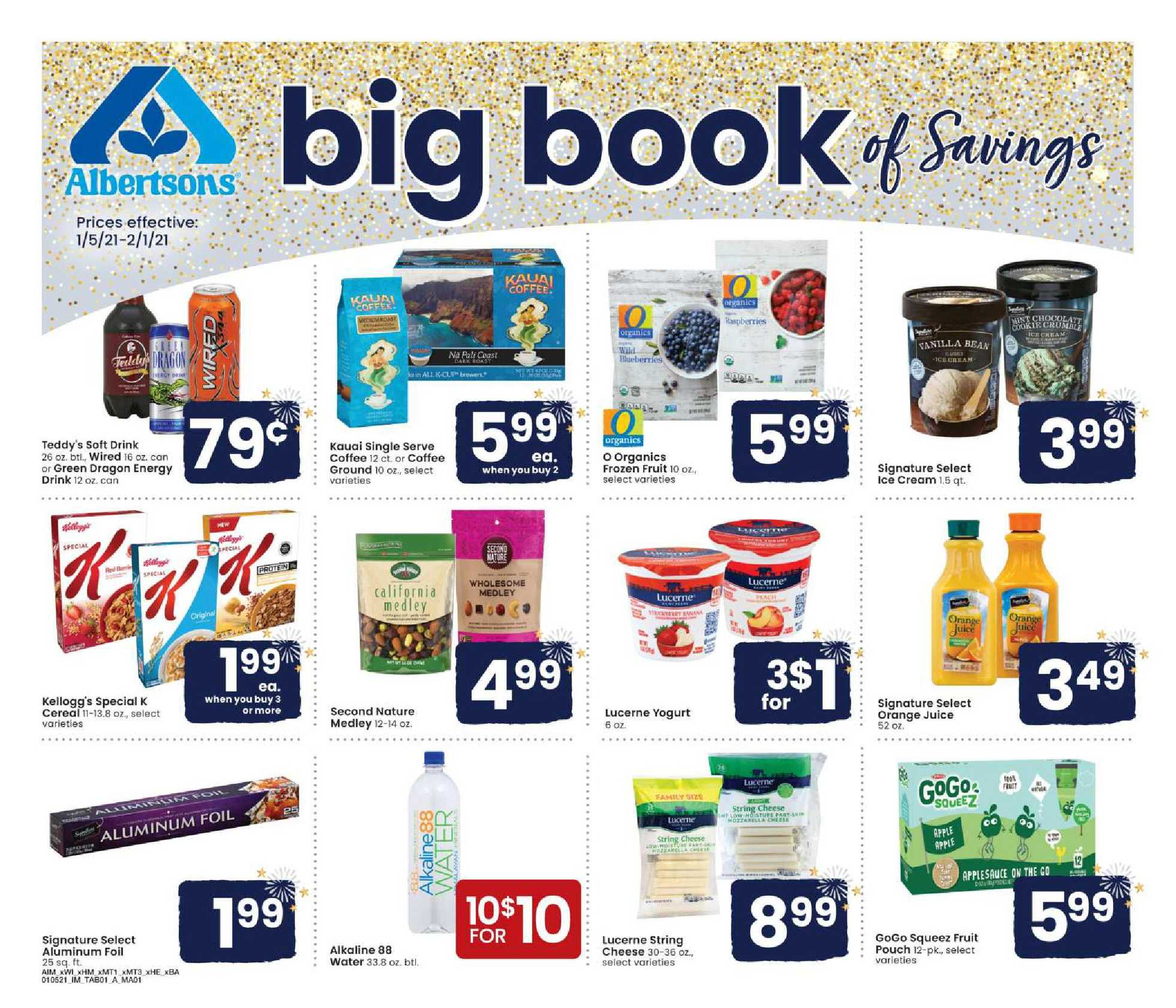 Albertsons - deals are valid from 01/05/21 to 02/01/21 - page 1.