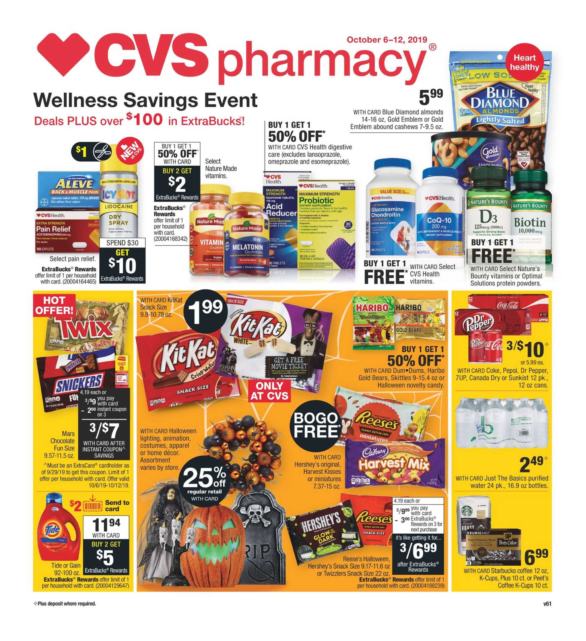 CVS - deals are valid from 10/06/19 to 10/12/19 - page 1.