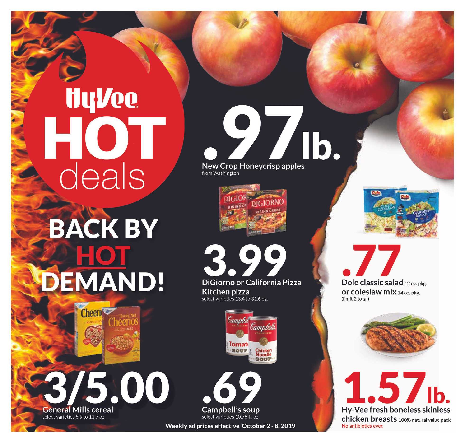 Hy-Vee - deals are valid from 10/02/19 to 10/08/19 - page 1.