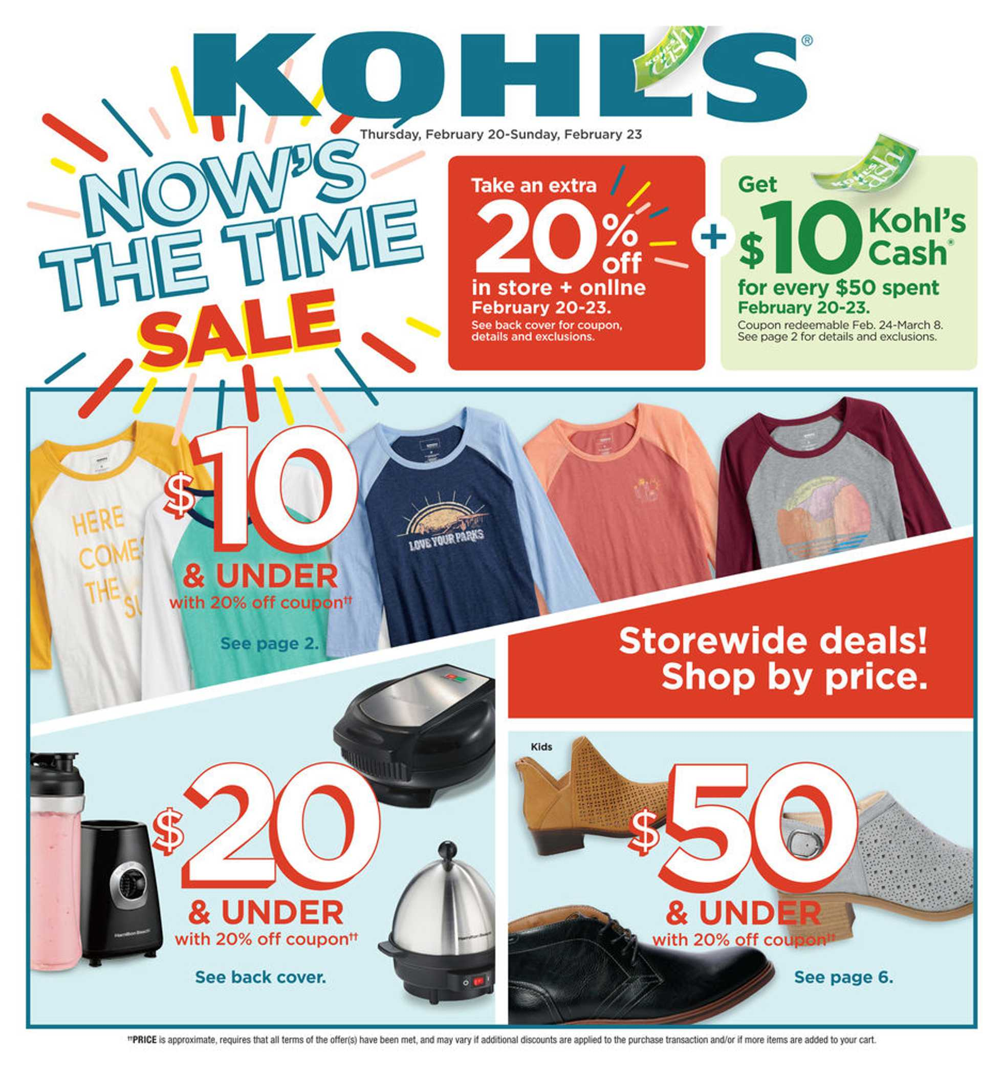 Kohl's - deals are valid from 02/20/20 to 02/23/20 - page 1.