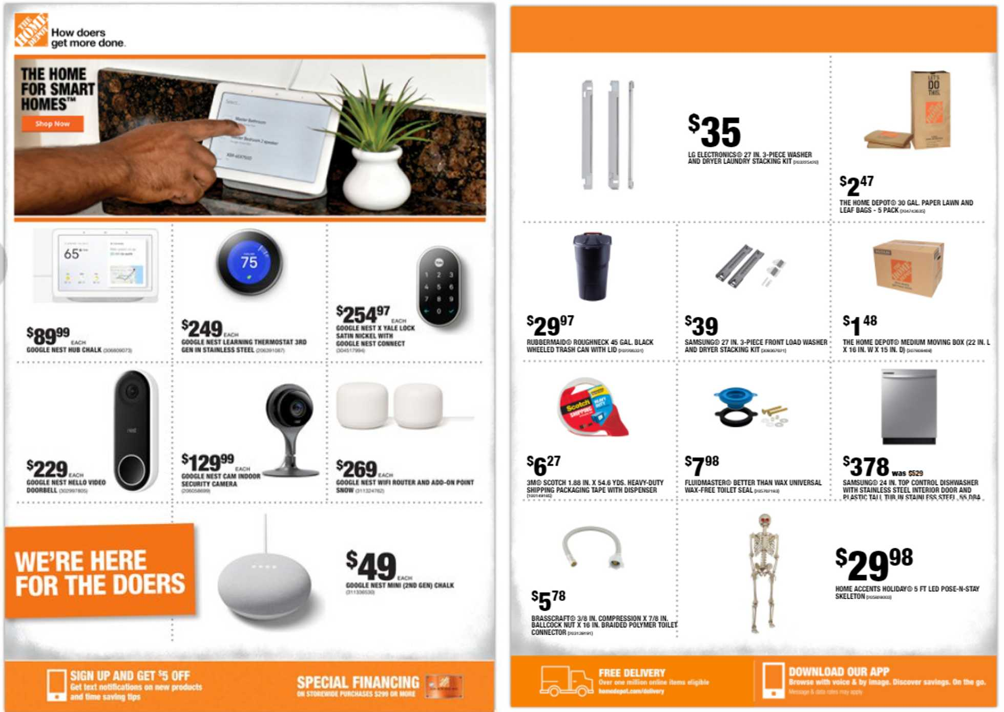 The Home Depot - deals are valid from 09/10/20 to 09/17/20 - page 1.