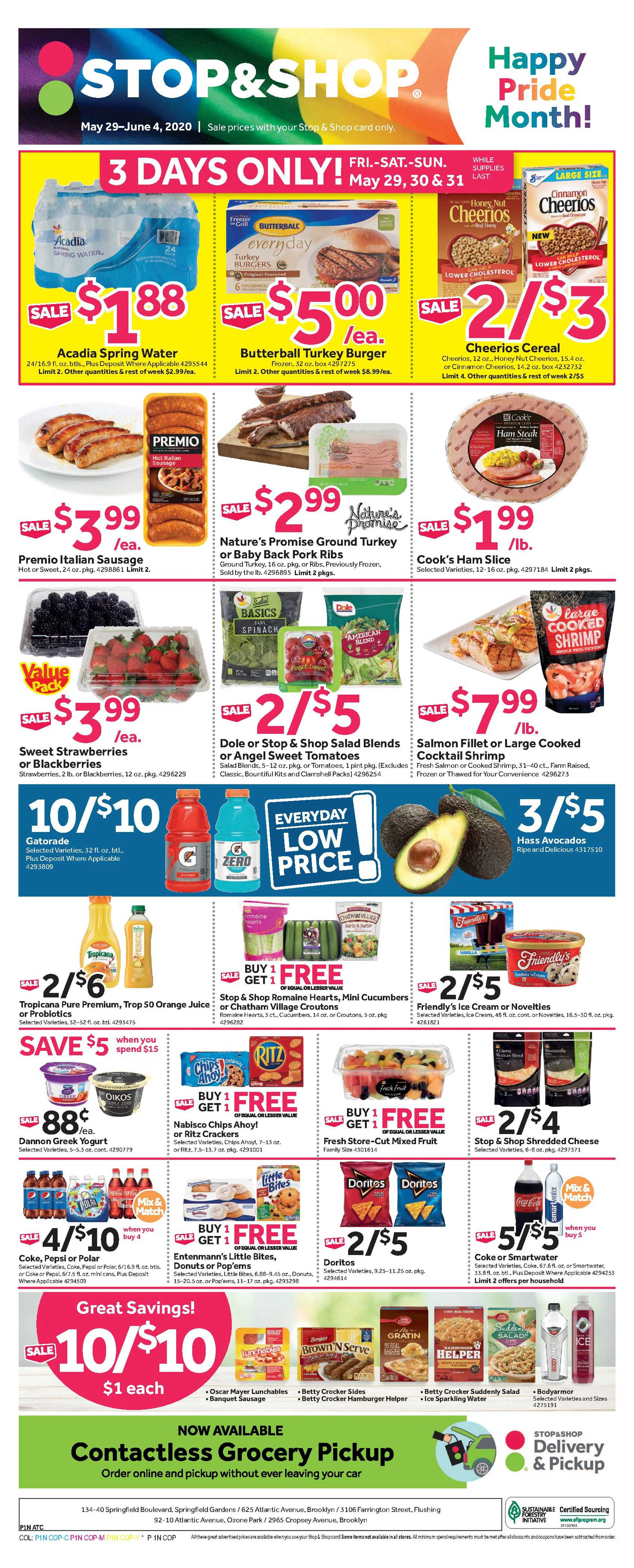 Stop & Shop - deals are valid from 05/29/20 to 06/04/20 - page 1.