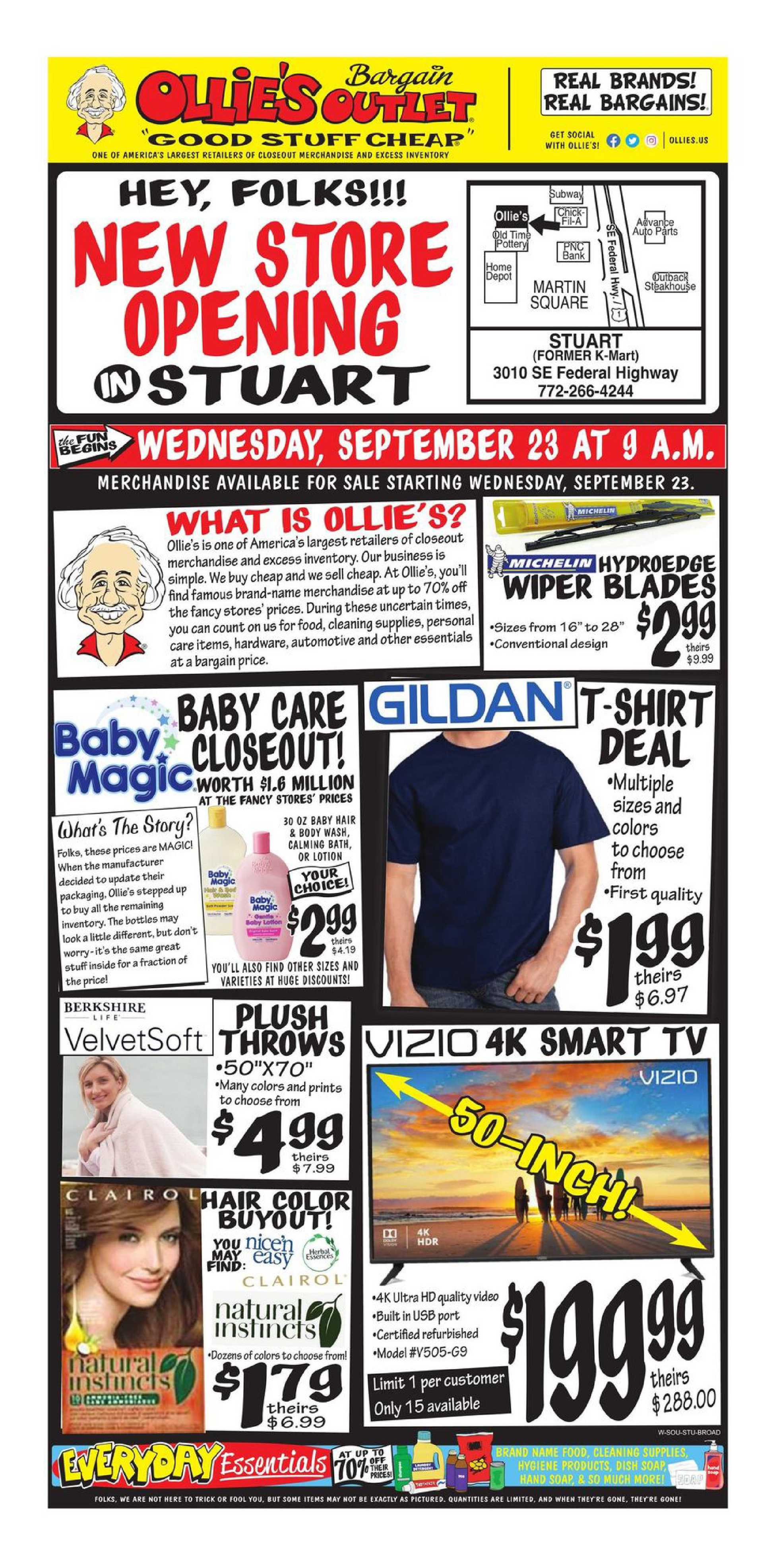 Ollie's Bargain Outlet - deals are valid from 08/23/20 to 10/03/20 - page 1.