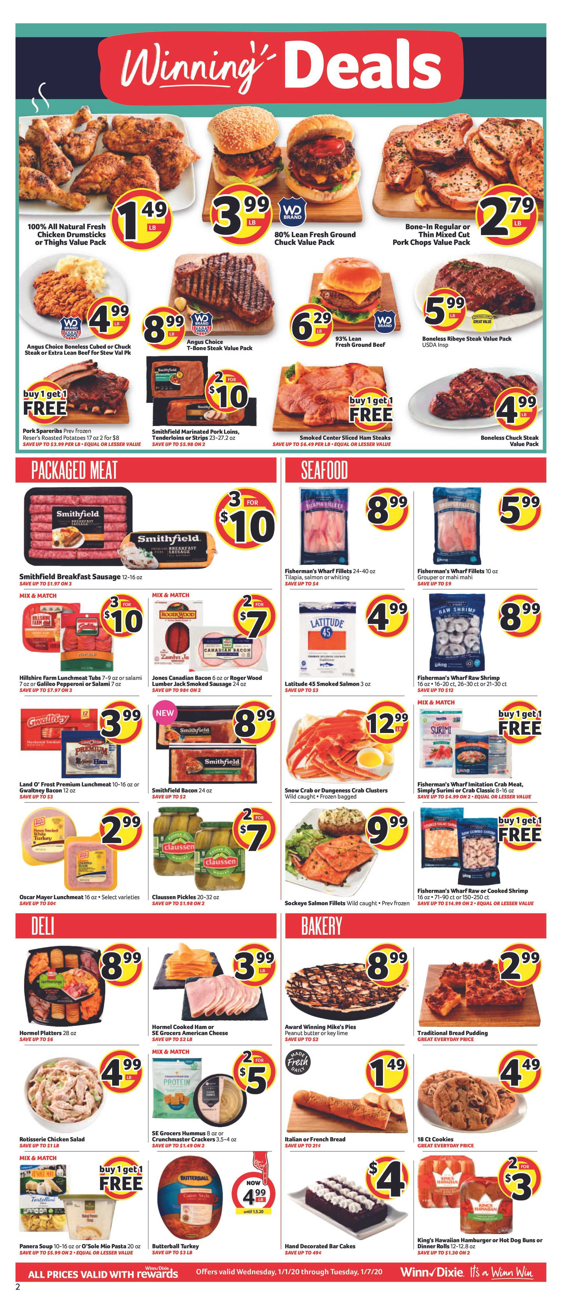 Winn Dixie - deals are valid from 01/01/20 to 01/07/20 - page 2.