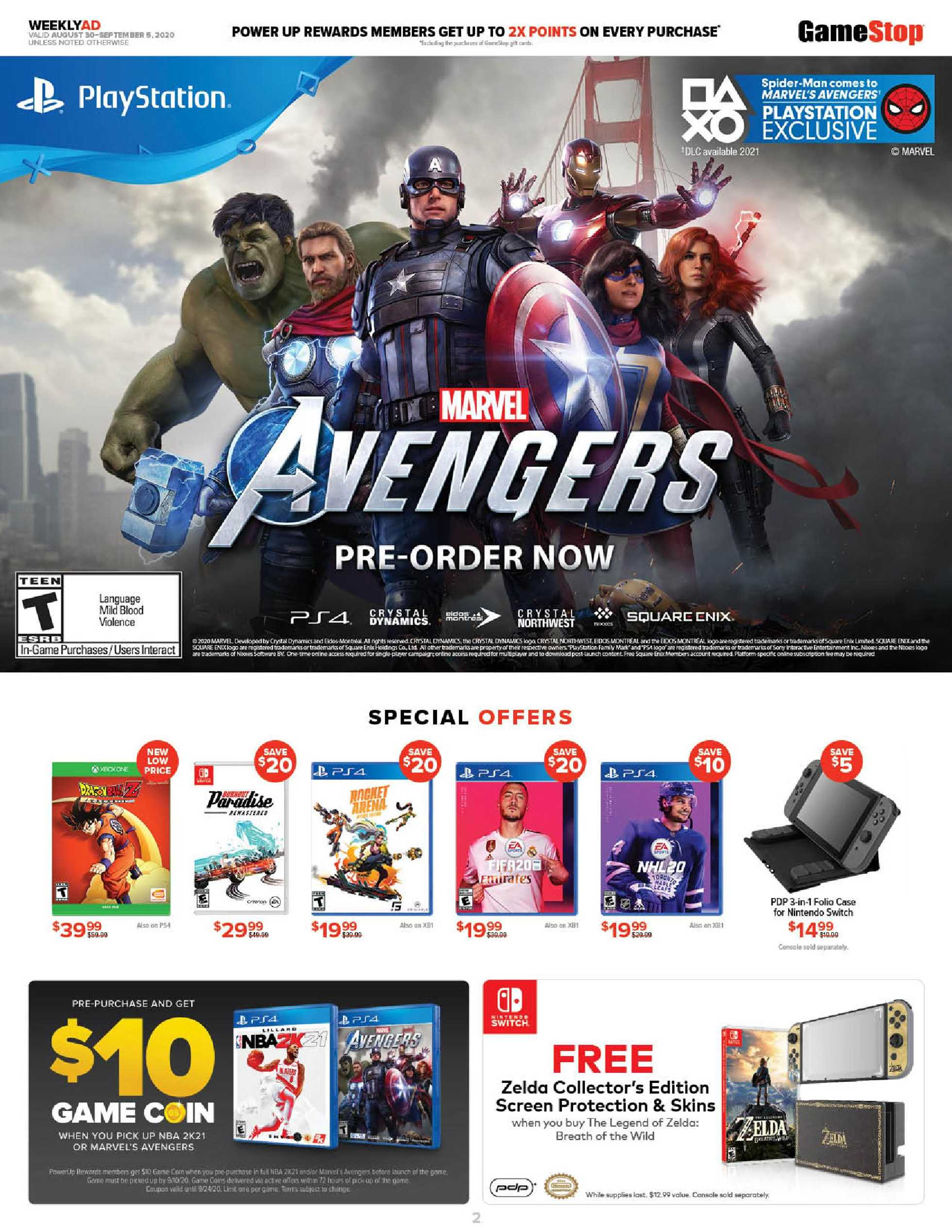 GameStop - deals are valid from 08/30/20 to 09/05/20 - page 2.
