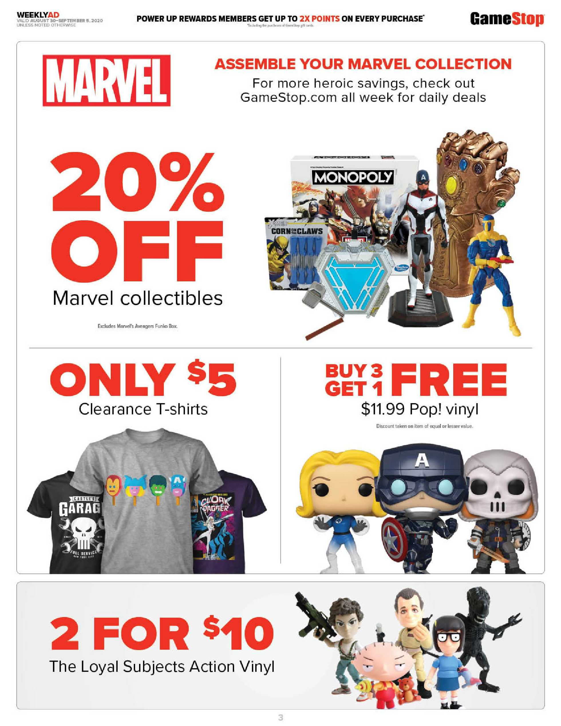 GameStop - deals are valid from 08/30/20 to 09/05/20 - page 3.