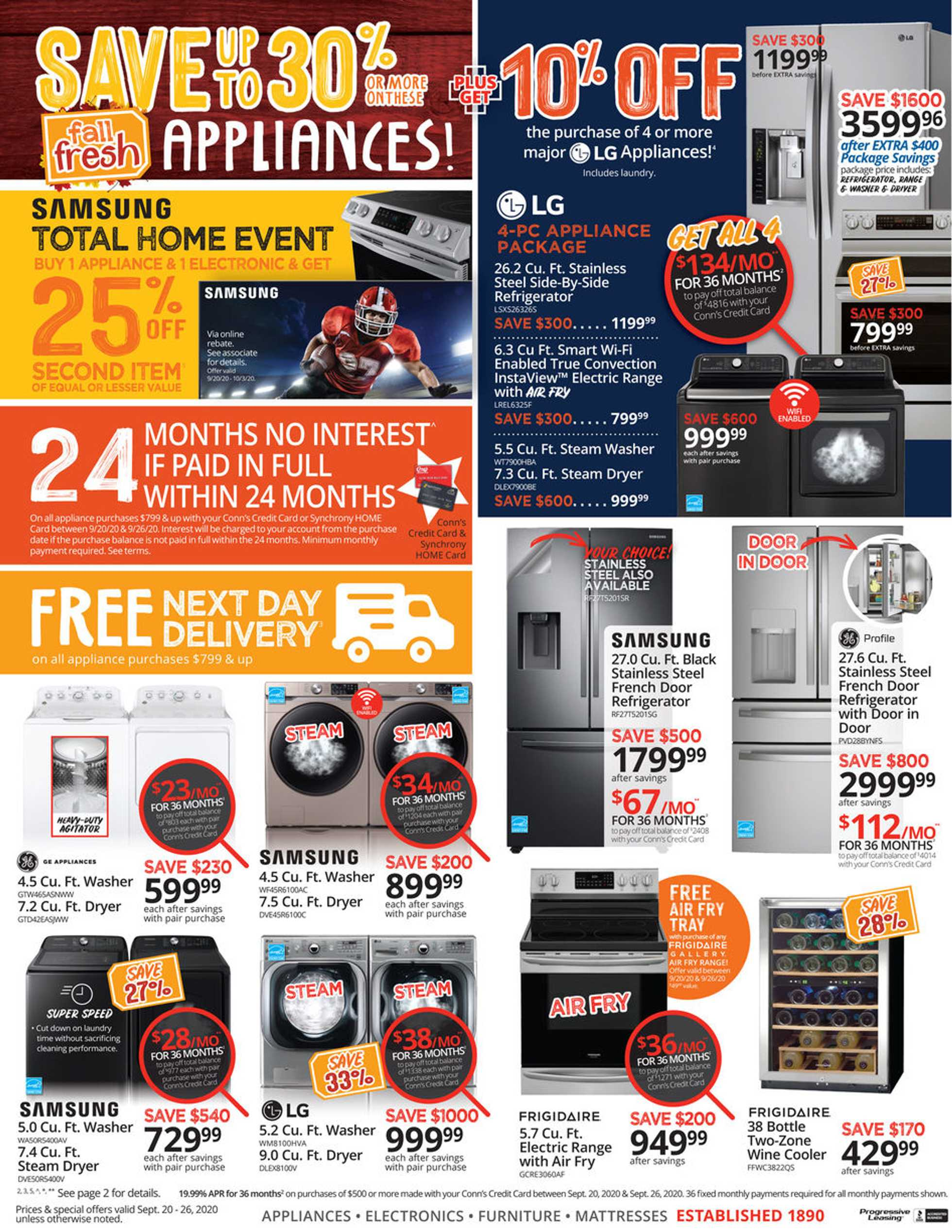 Conn's HomePlus - deals are valid from 09/20/20 to 09/26/20 - page 4.