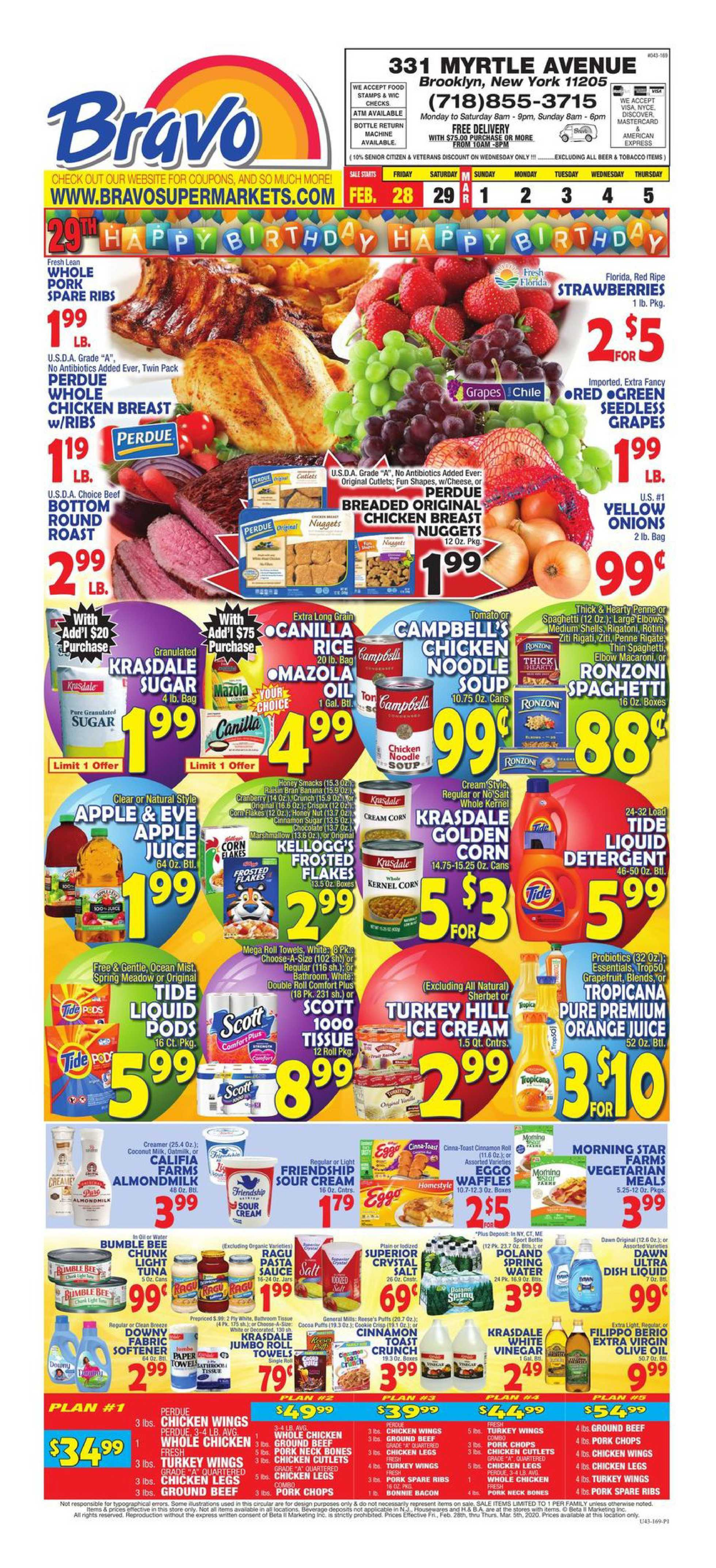 Bravo - deals are valid from 02/28/20 to 03/05/20 - page 1.