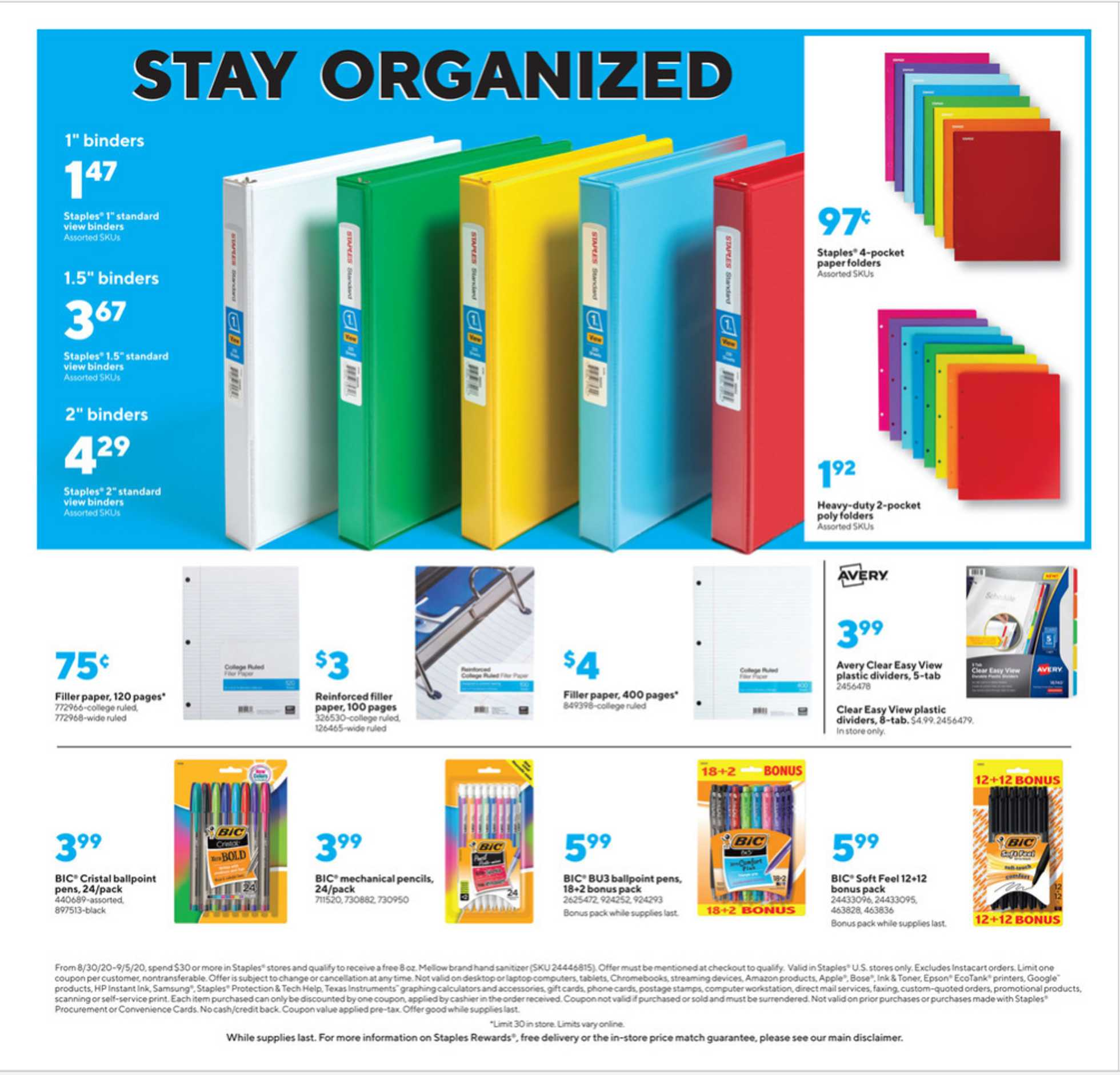 Staples - deals are valid from 08/30/20 to 09/05/20 - page 3.