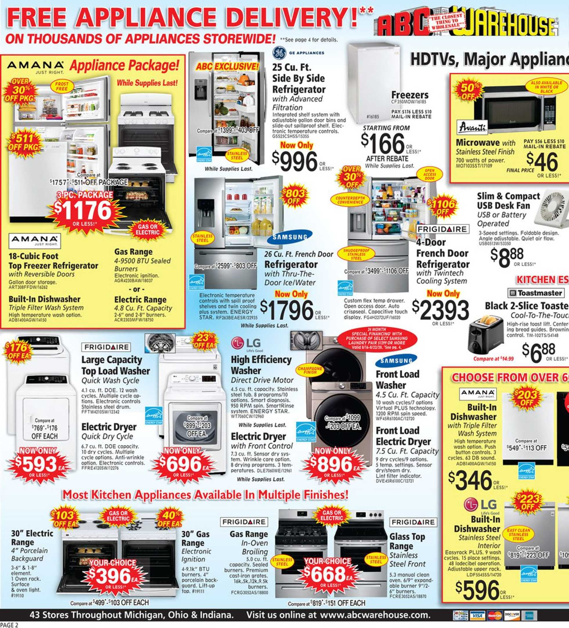 ABC Warehouse - deals are valid from 08/16/20 to 08/22/20 - page 2.