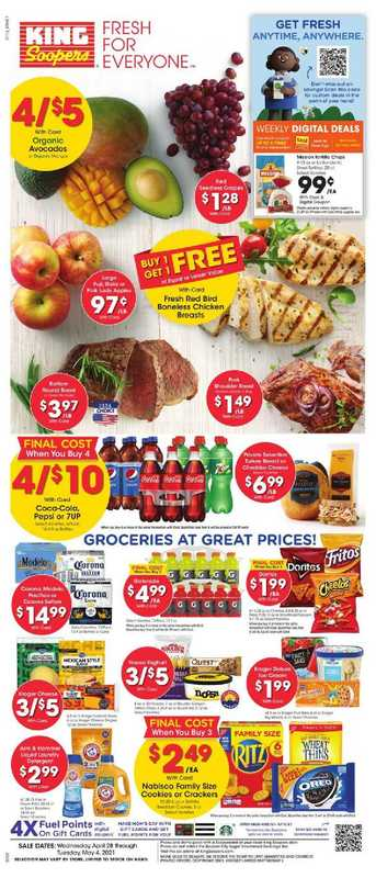King Soopers - deals are valid from 04/28/21 to 05/04/21 - page 1.