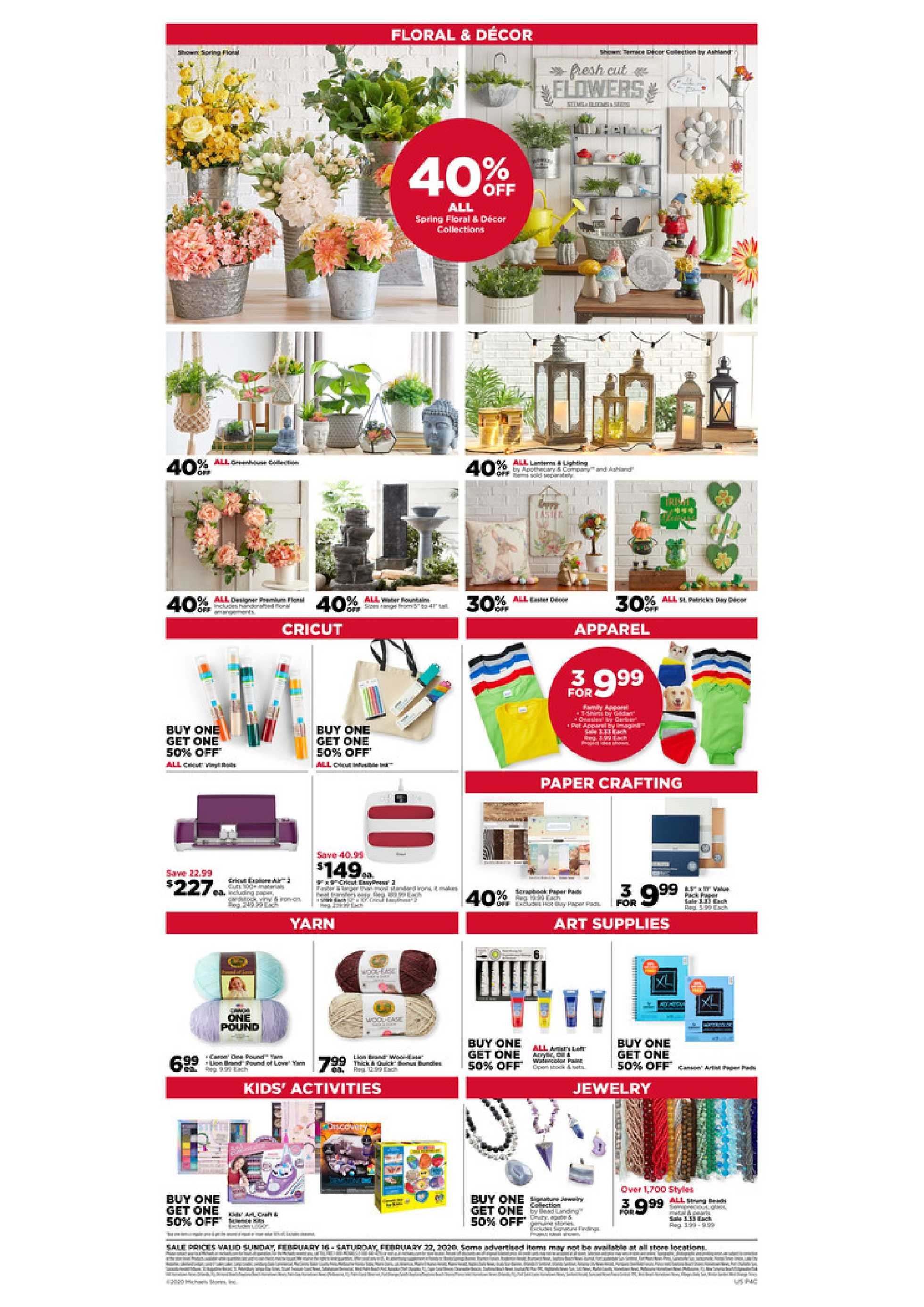 Michaels - promo starting from 02/16/20 to 02/22/20 - page 2.