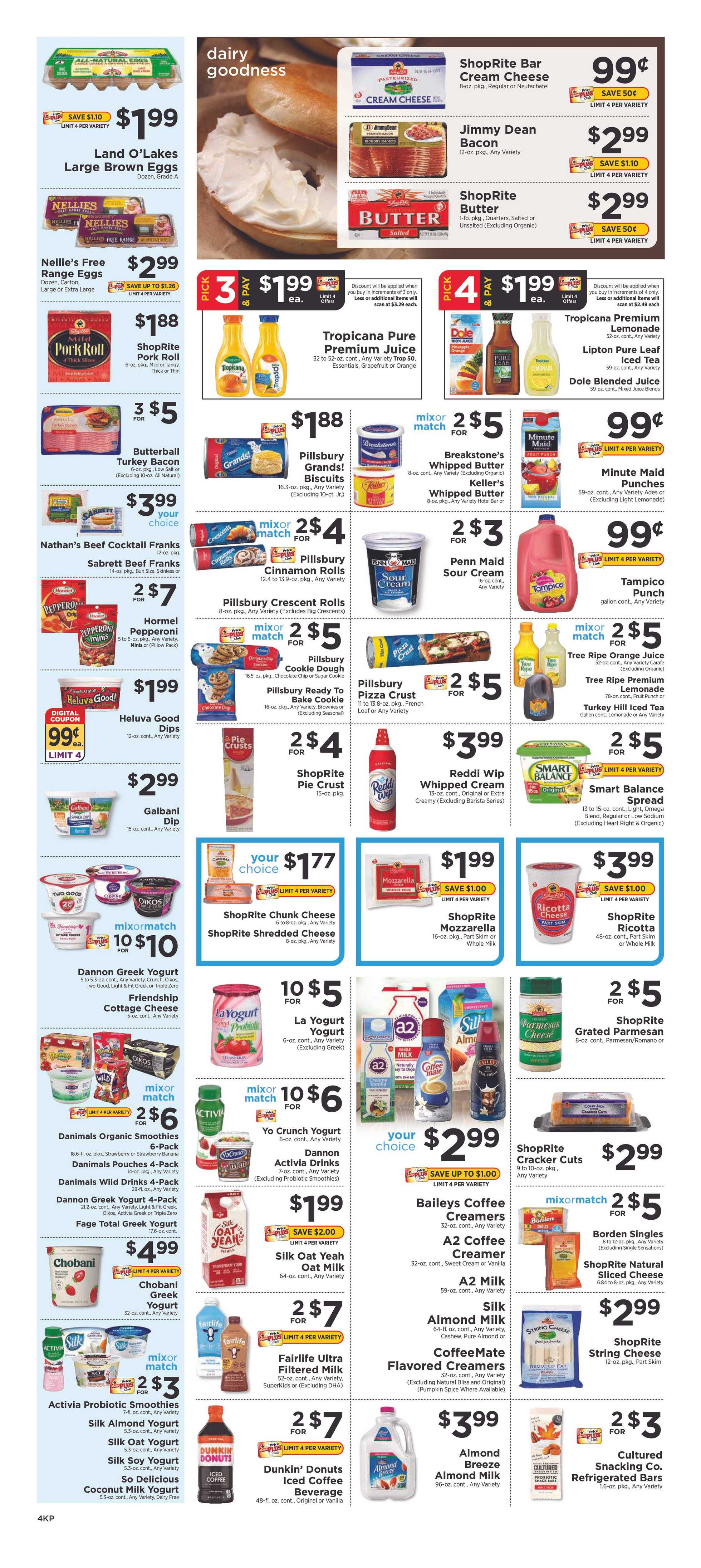 ShopRite - deals are valid from 12/22/19 to 12/28/19 - page 4.