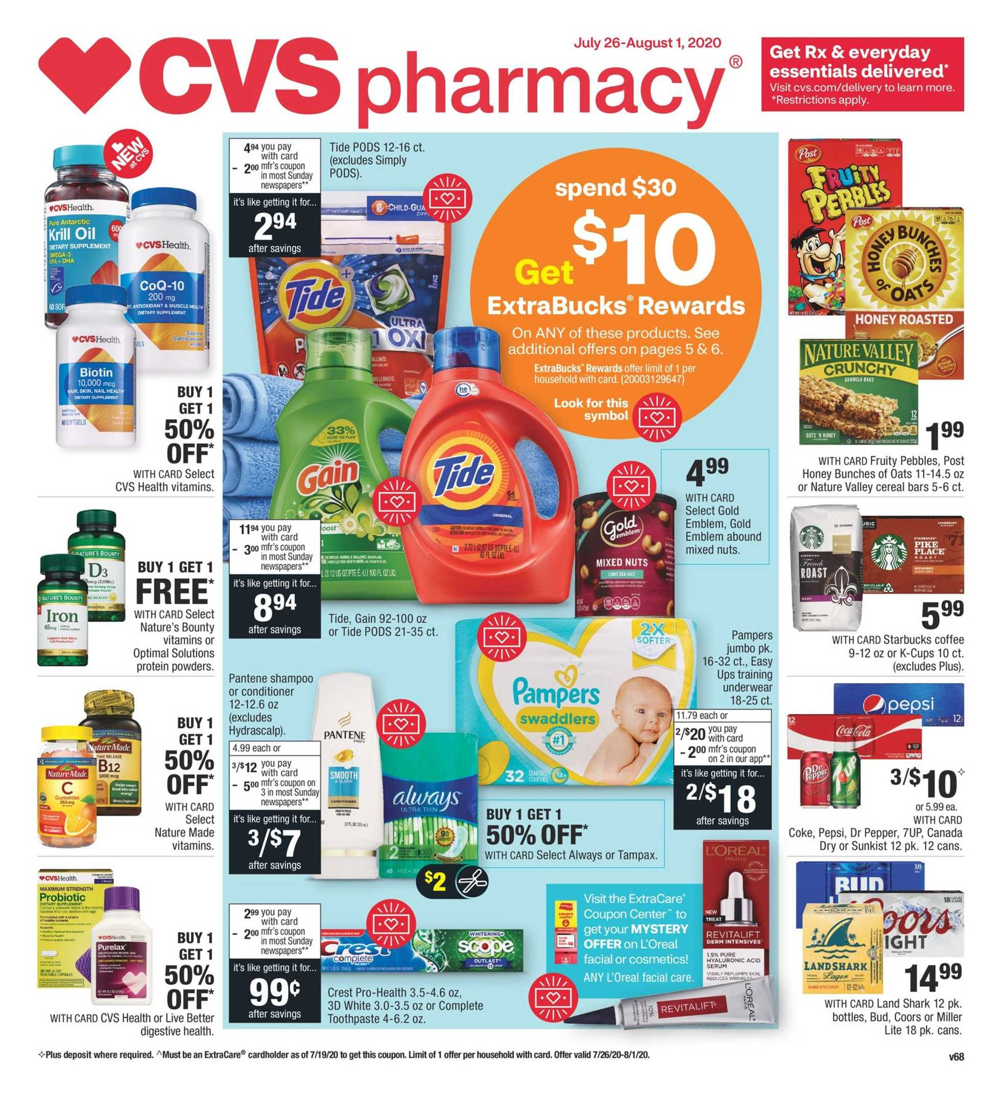 CVS - deals are valid from 07/26/20 to 08/01/20 - page 1.