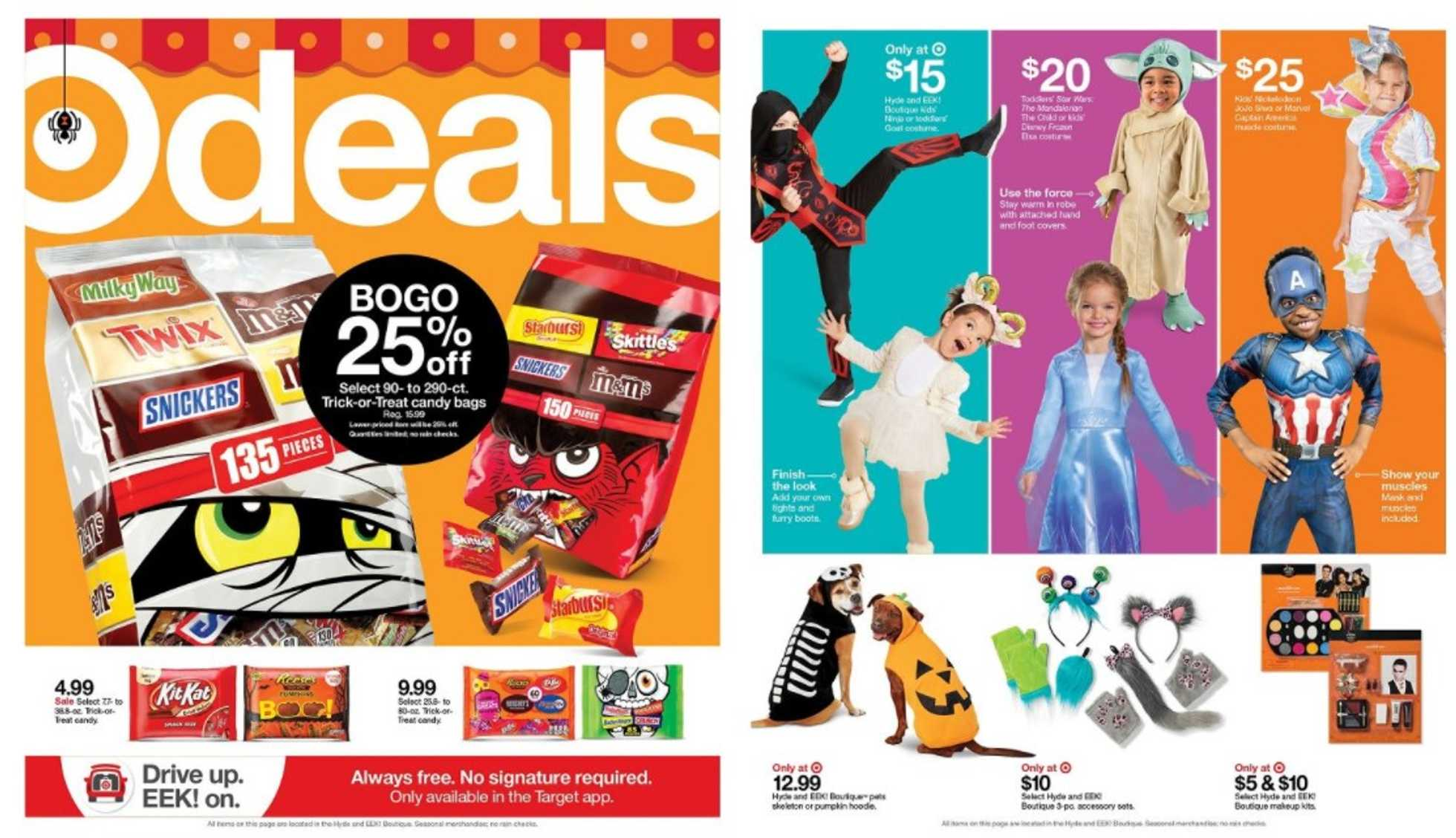 Target - deals are valid from 10/18/20 to 10/24/20 - page 1.