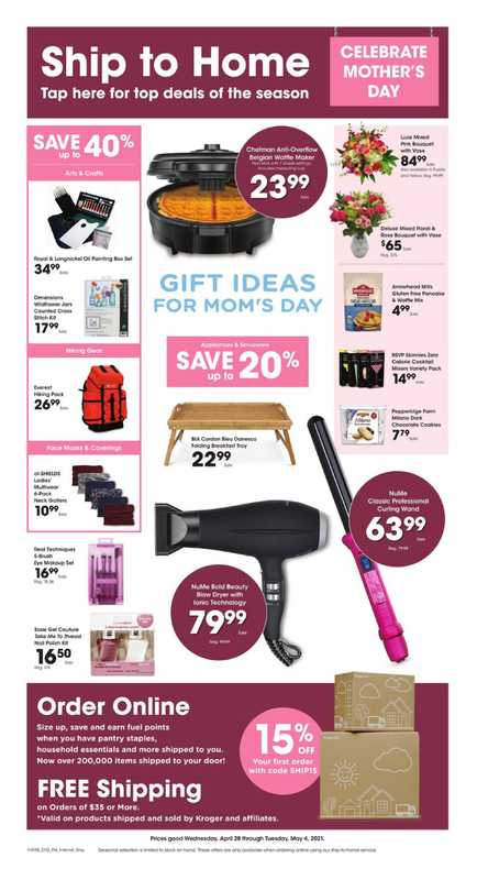 Kroger - deals are valid from 04/28/21 to 05/04/21 - page 1.