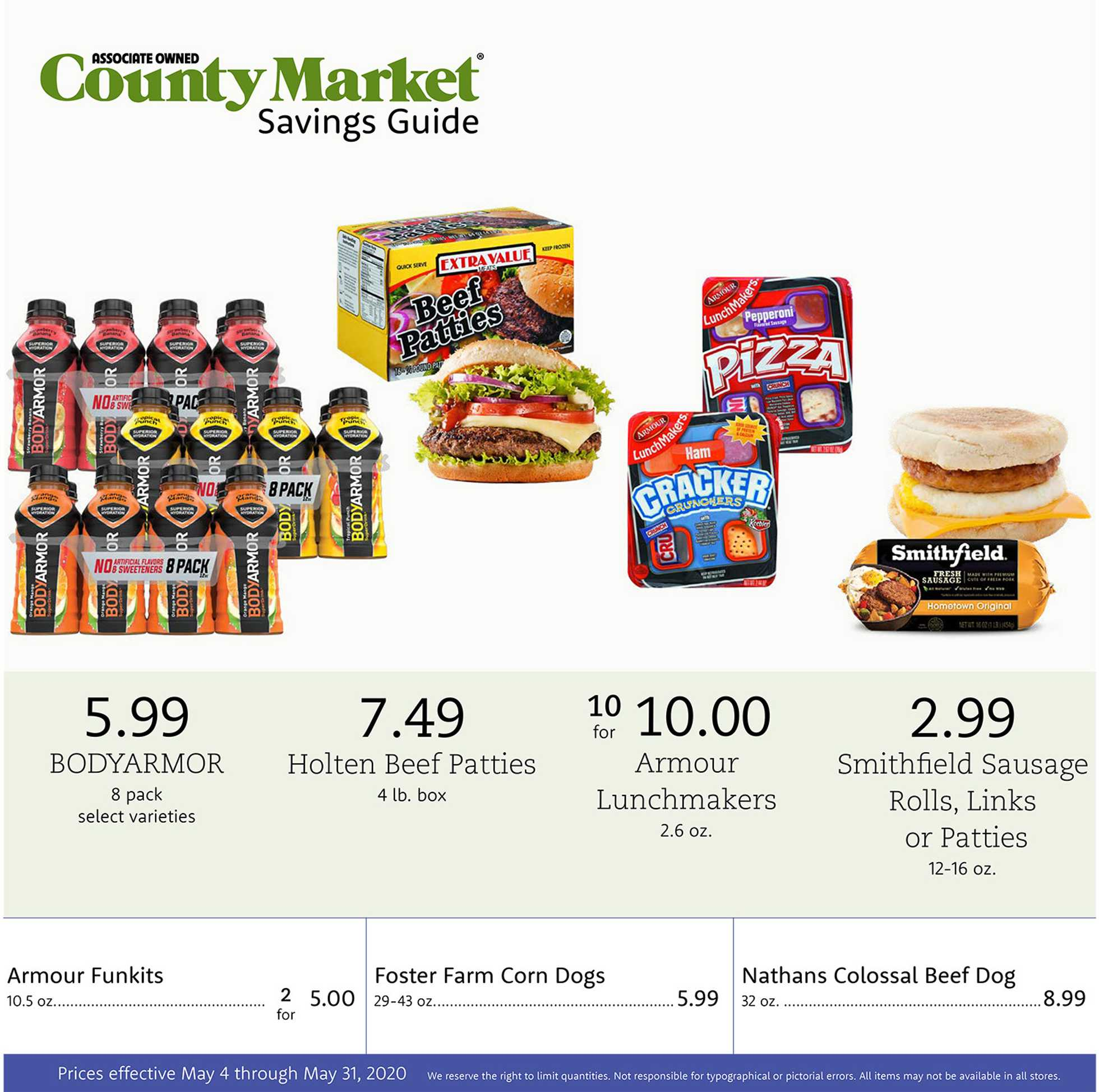 County Market - deals are valid from 05/04/20 to 05/31/20 - page 1.