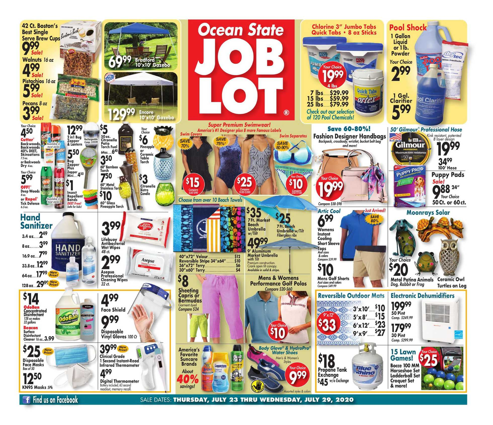Ocean State Job Lot - deals are valid from 07/23/20 to 07/29/20 - page 1.