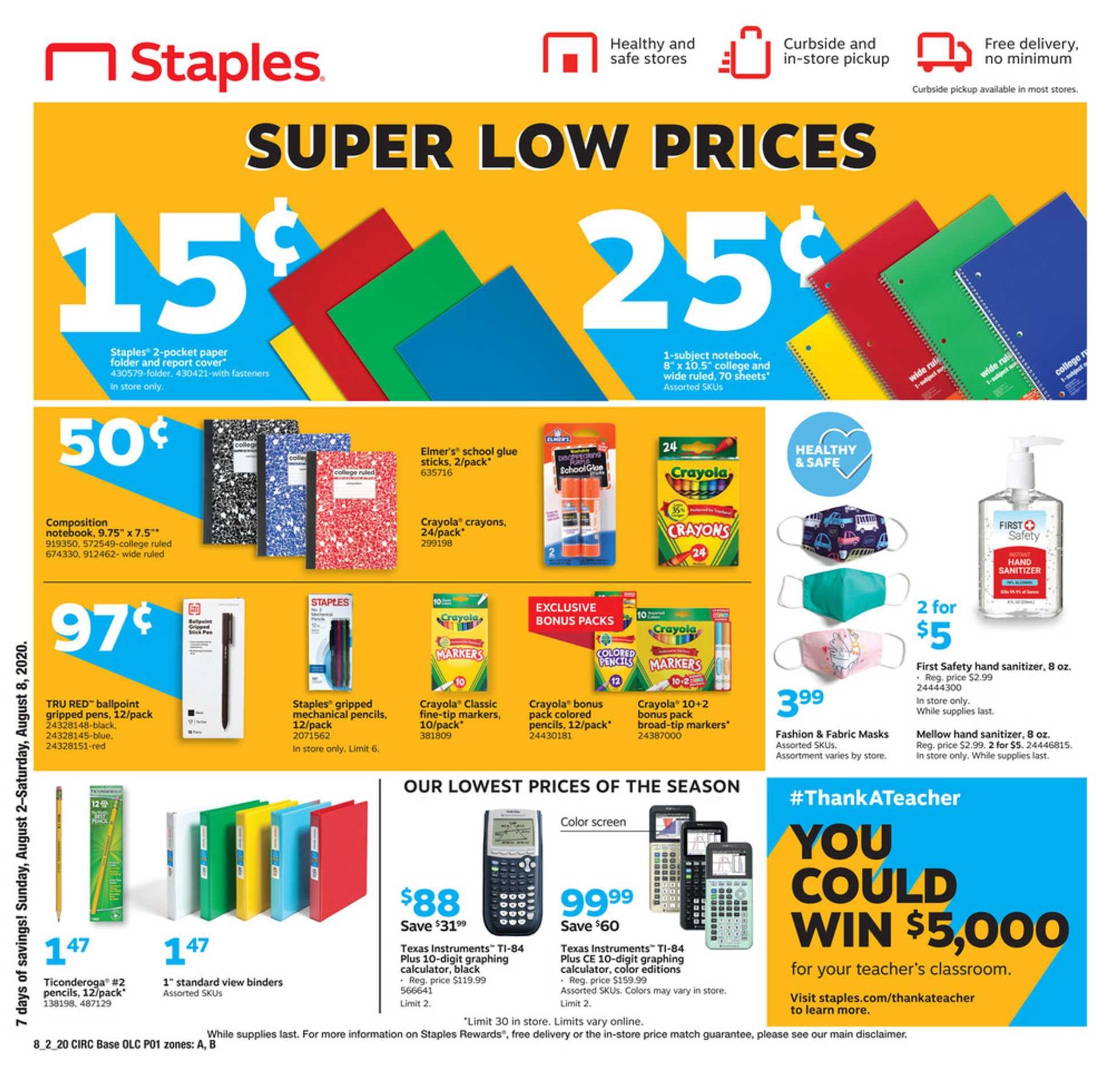 Staples - deals are valid from 08/02/20 to 08/08/20 - page 1.