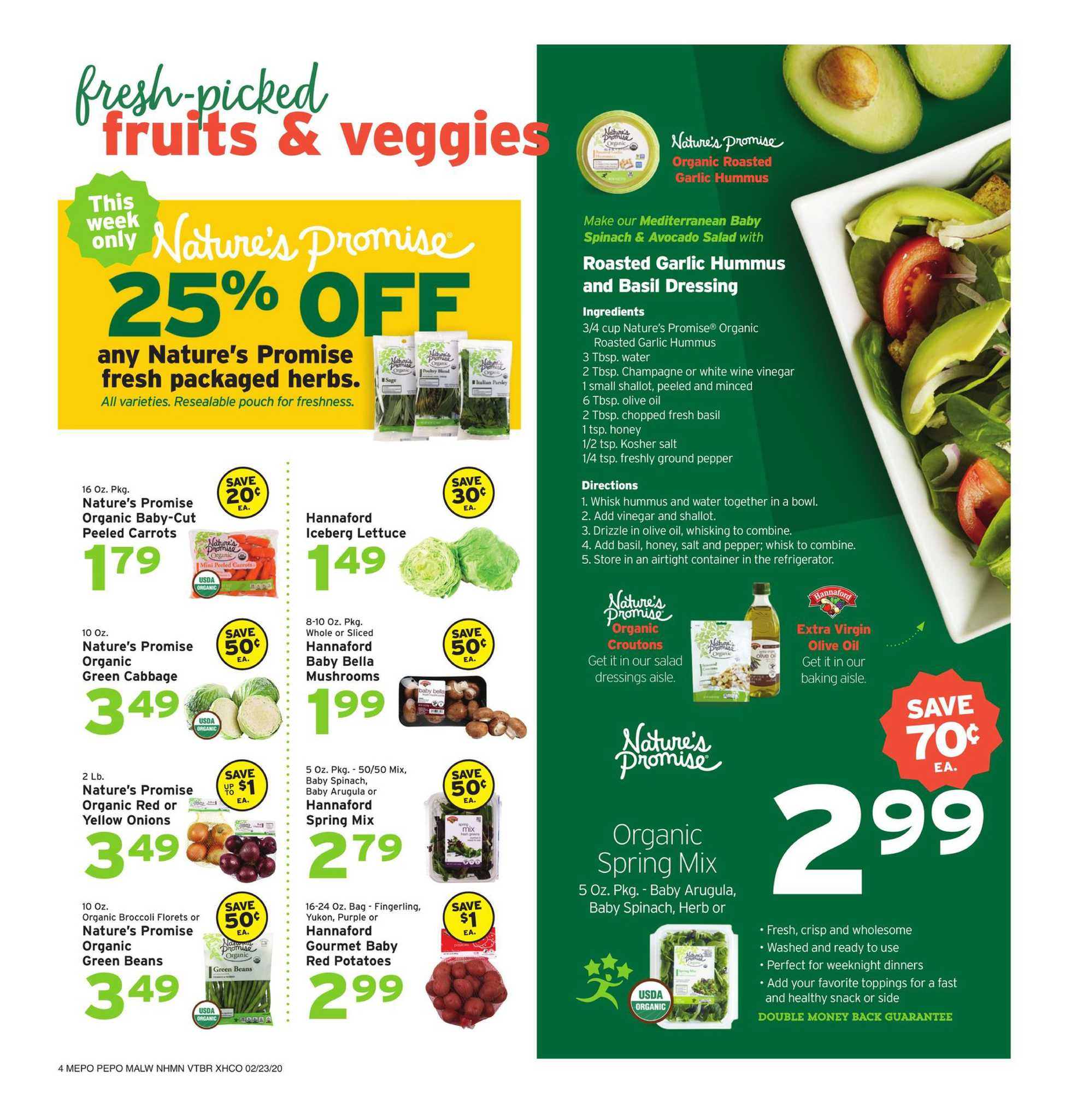Hannaford - promo starting from 02/23/20 to 02/29/20 - page 4.