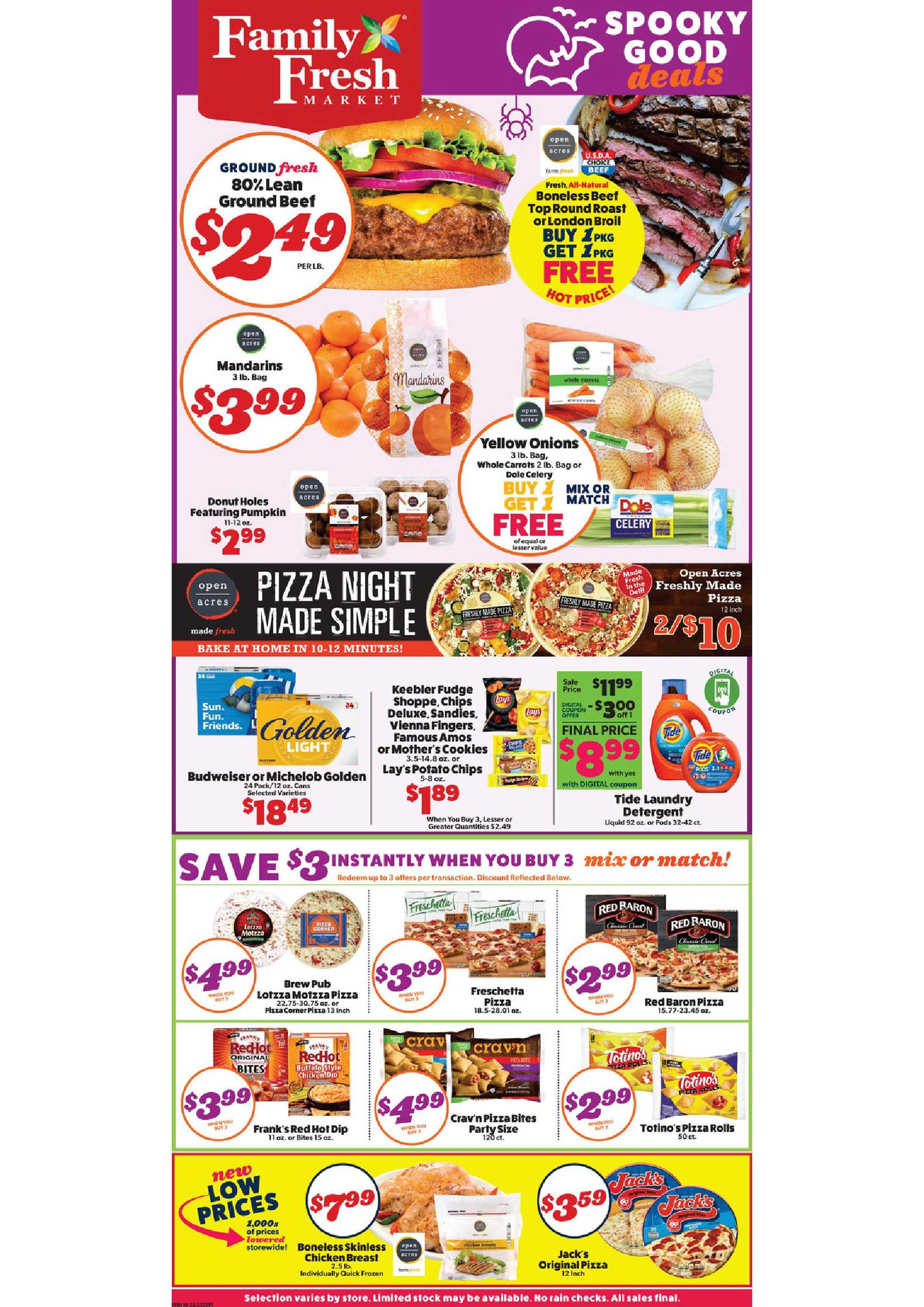 Family Fresh Market - deals are valid from 10/25/20 to 10/31/20 - page 1.