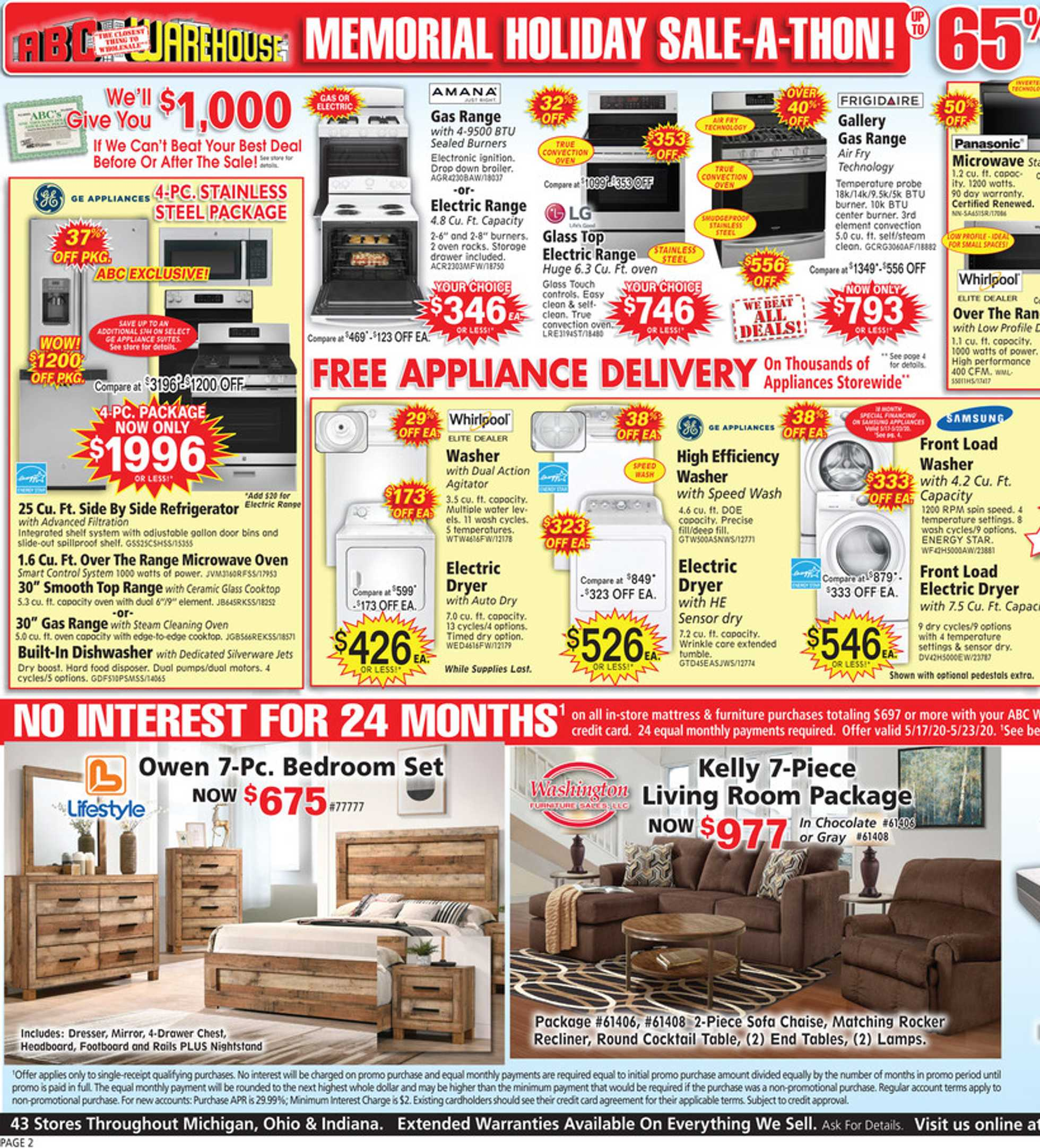 ABC Warehouse - deals are valid from 05/17/20 to 05/23/20 - page 2.