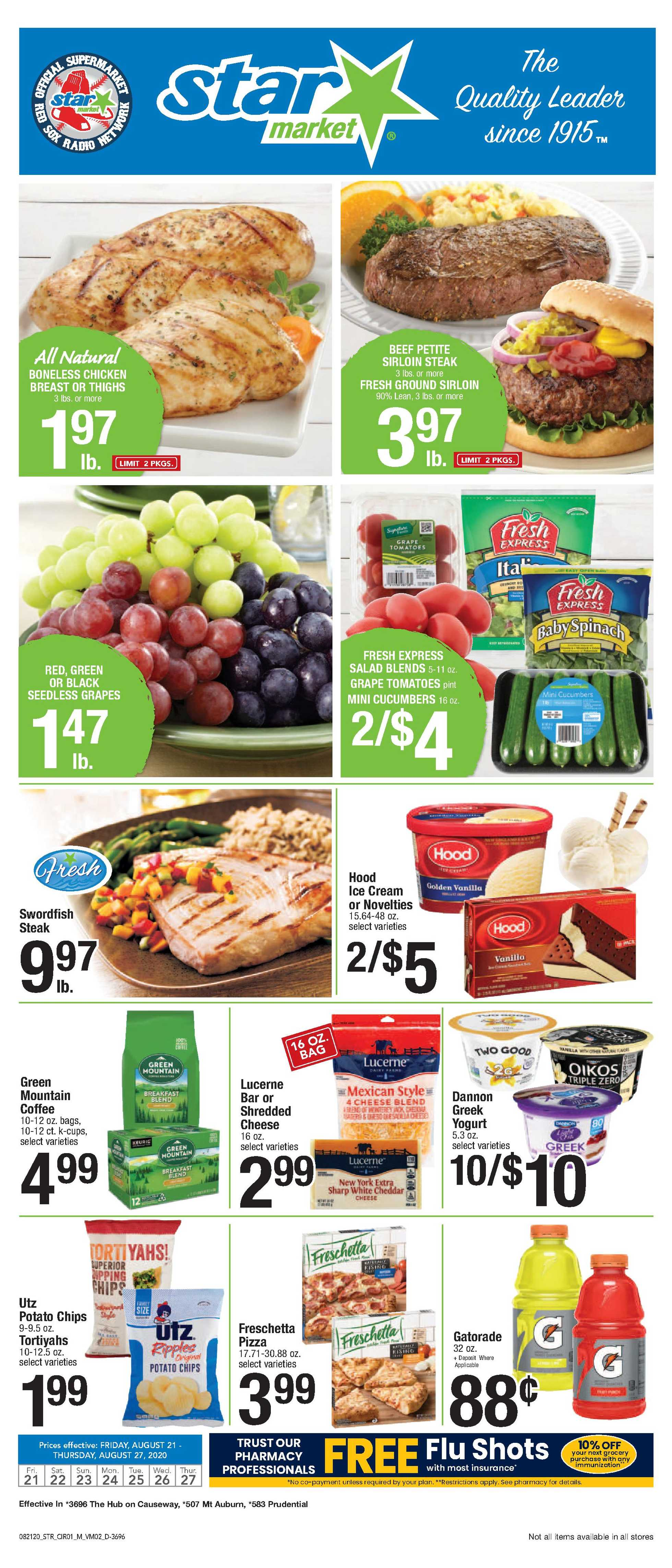 Star Market - deals are valid from 08/21/20 to 08/27/20 - page 1.