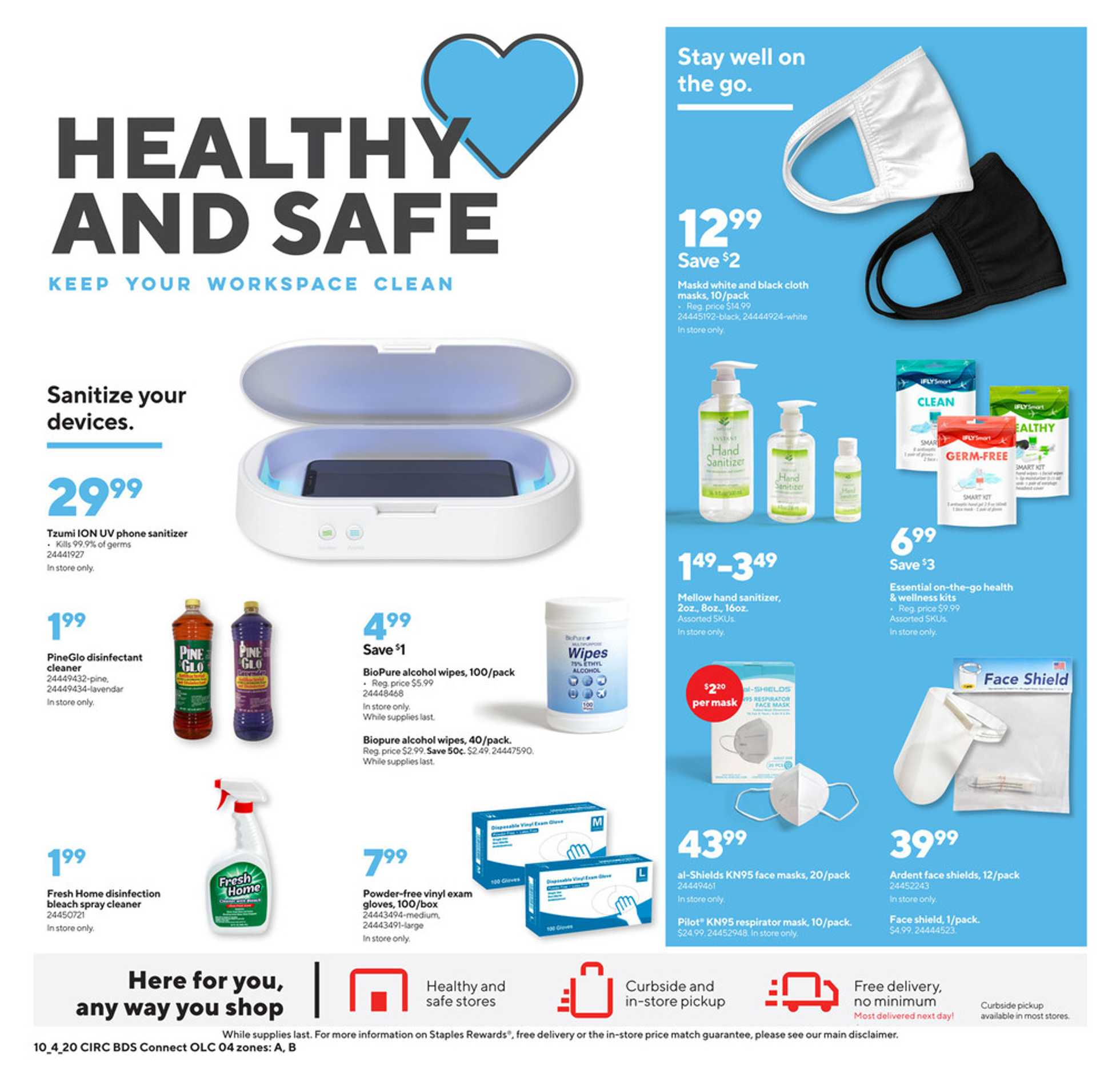 Staples - deals are valid from 10/04/20 to 10/10/20 - page 4.