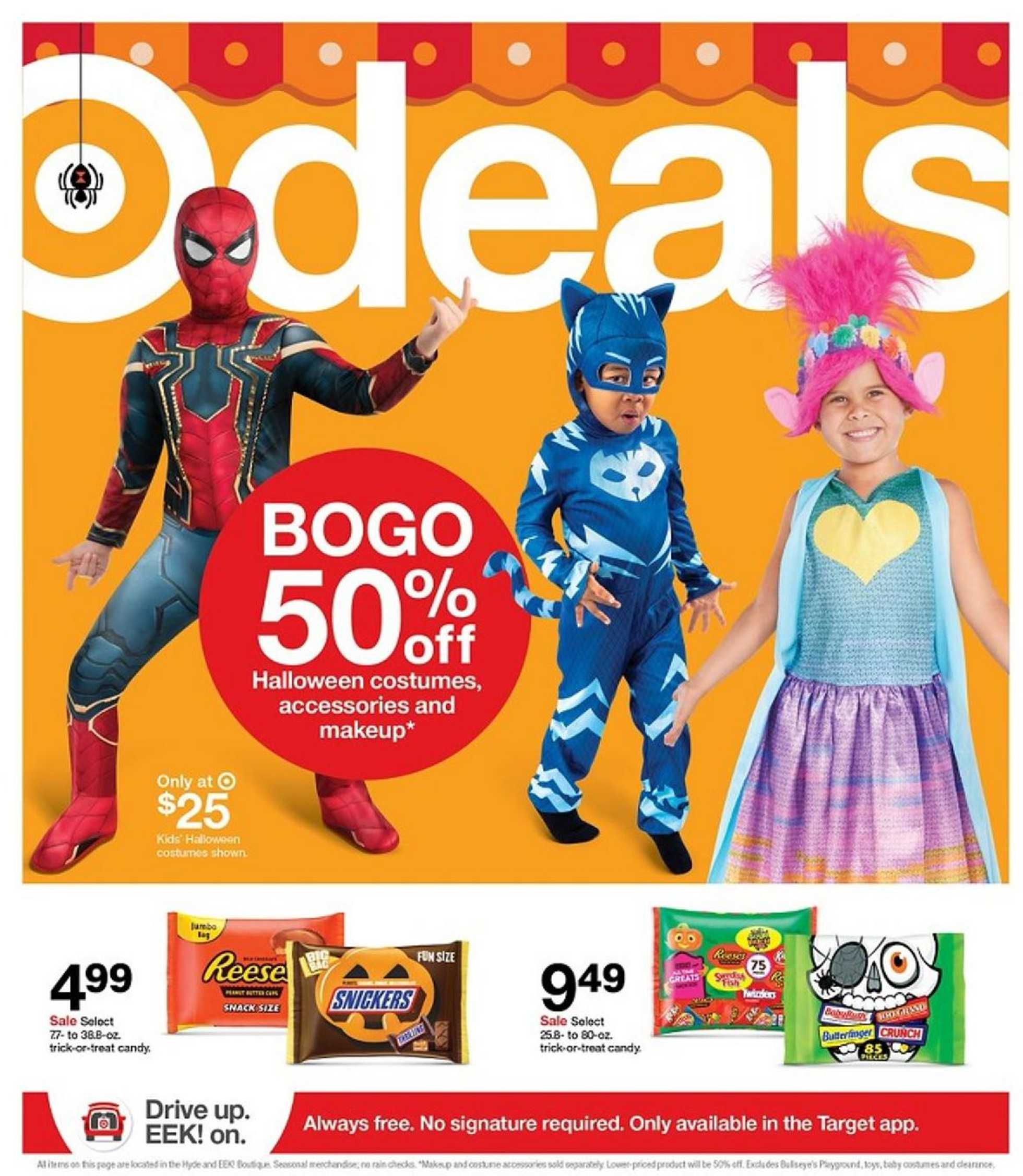 Target - deals are valid from 10/11/20 to 10/17/20 - page 1.