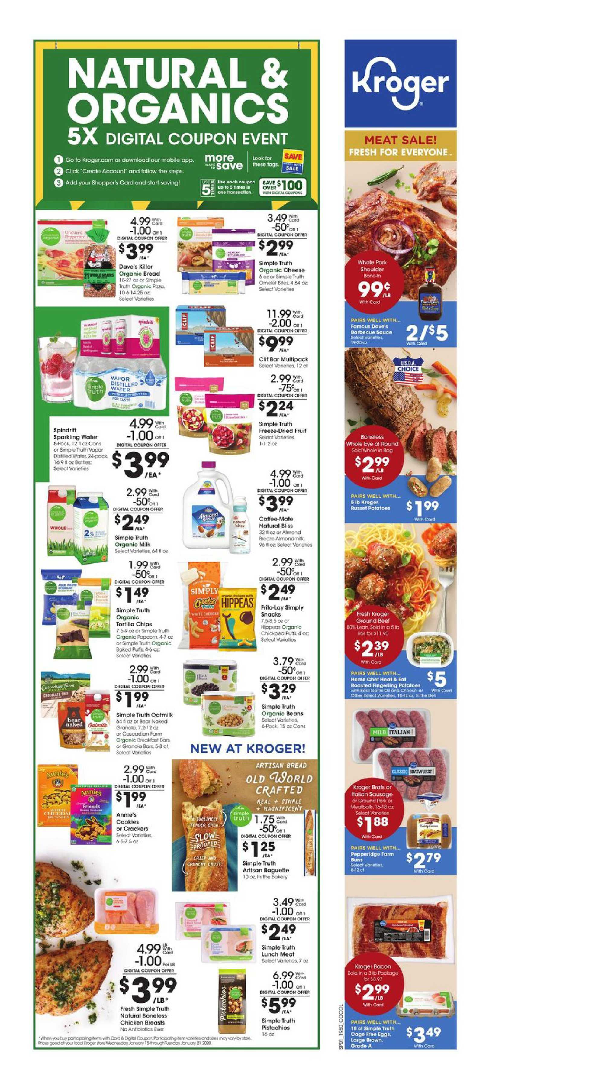 Kroger - promo starting from 01/15/20 to 01/21/20 - page 2. The promotion includes potatoes, potatoes, mobile, beef, beef, mobile