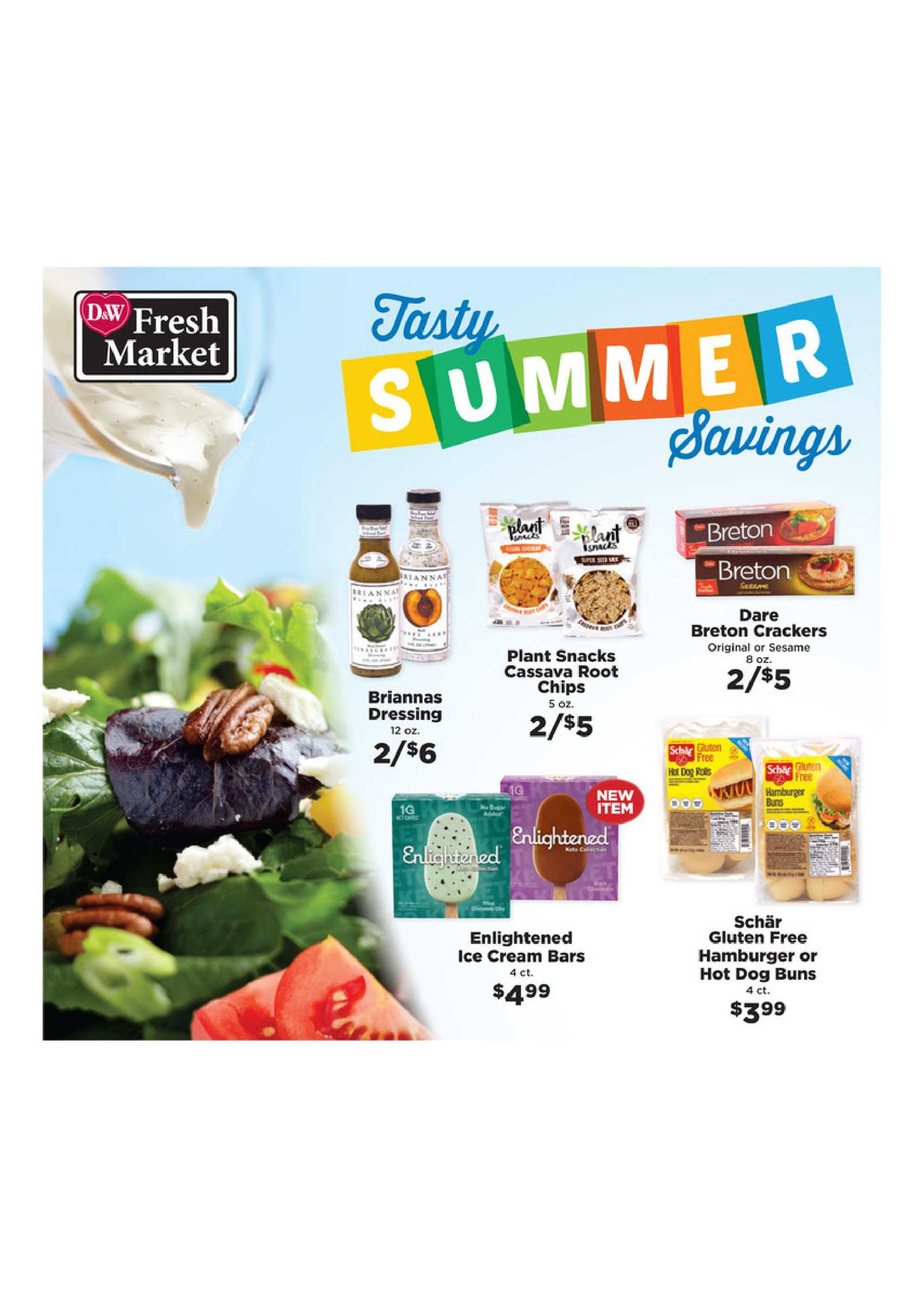 D&W Fresh Market - deals are valid from 06/28/20 to 08/29/20 - page 1.