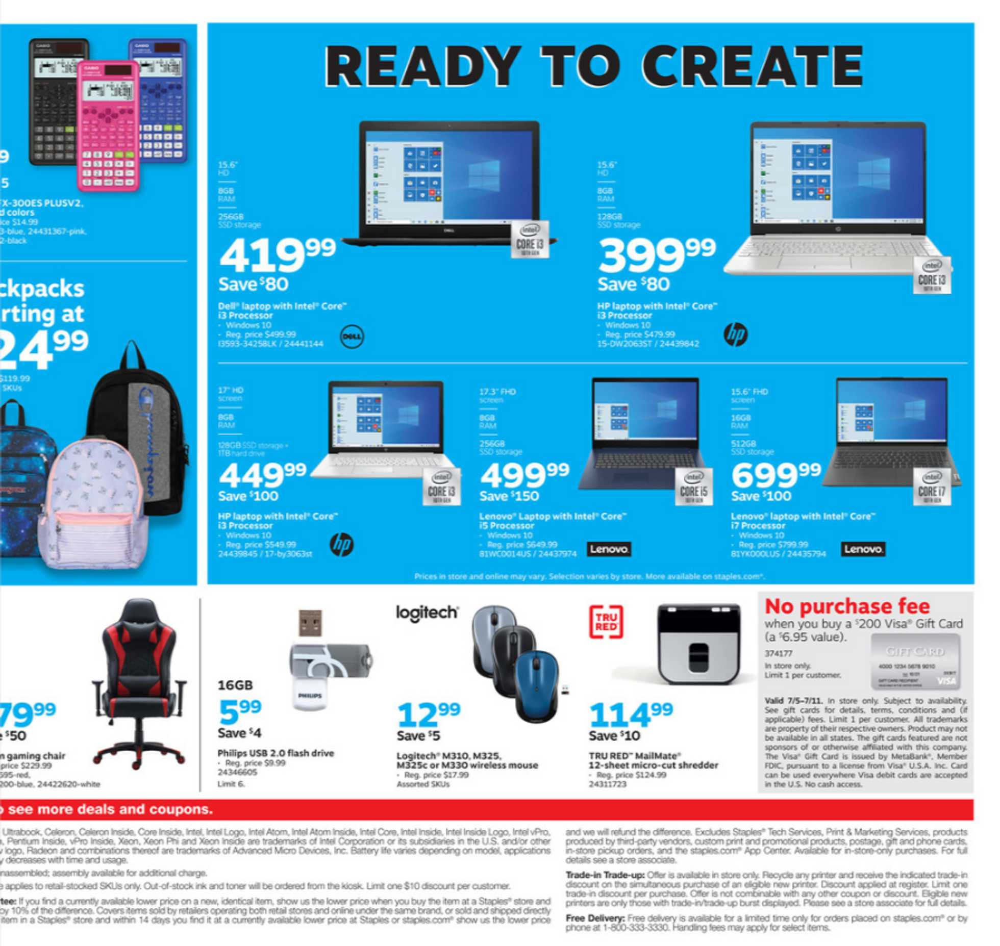Staples - deals are valid from 07/05/20 to 07/11/20 - page 3.