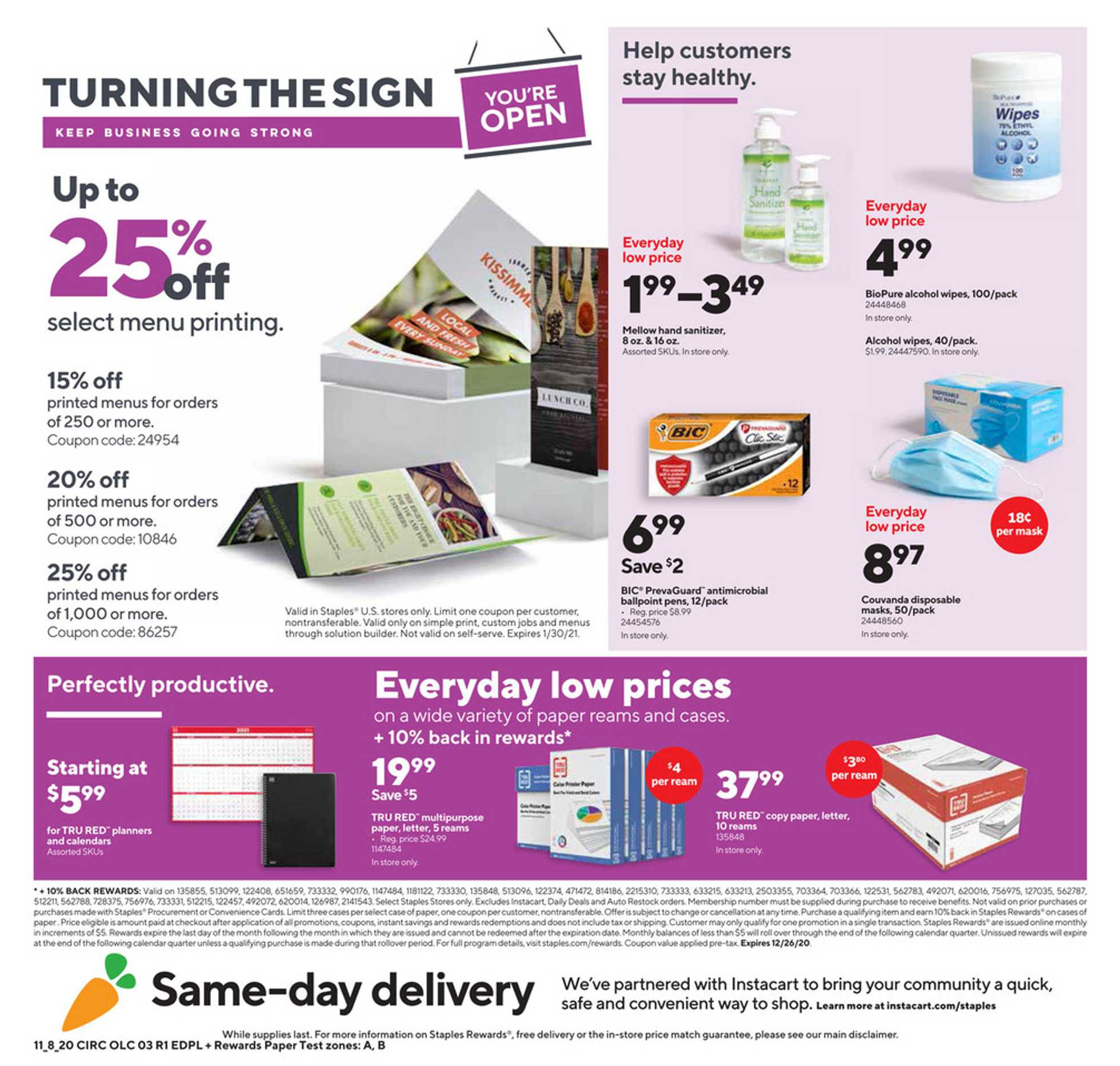 Staples - deals are valid from 11/08/20 to 11/14/20 - page 3.
