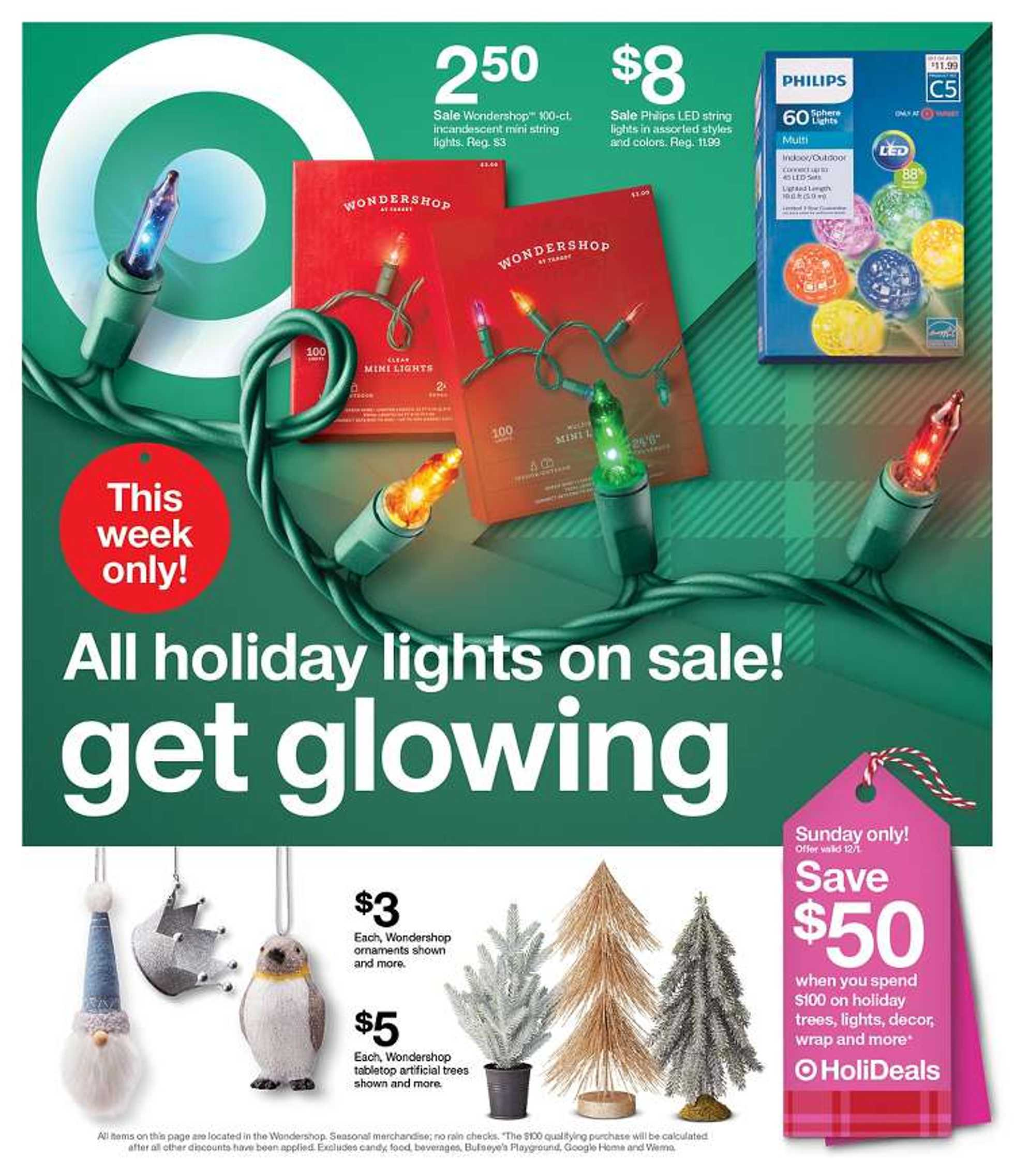 Target - deals are valid from 12/01/19 to 12/07/19 - page 1.